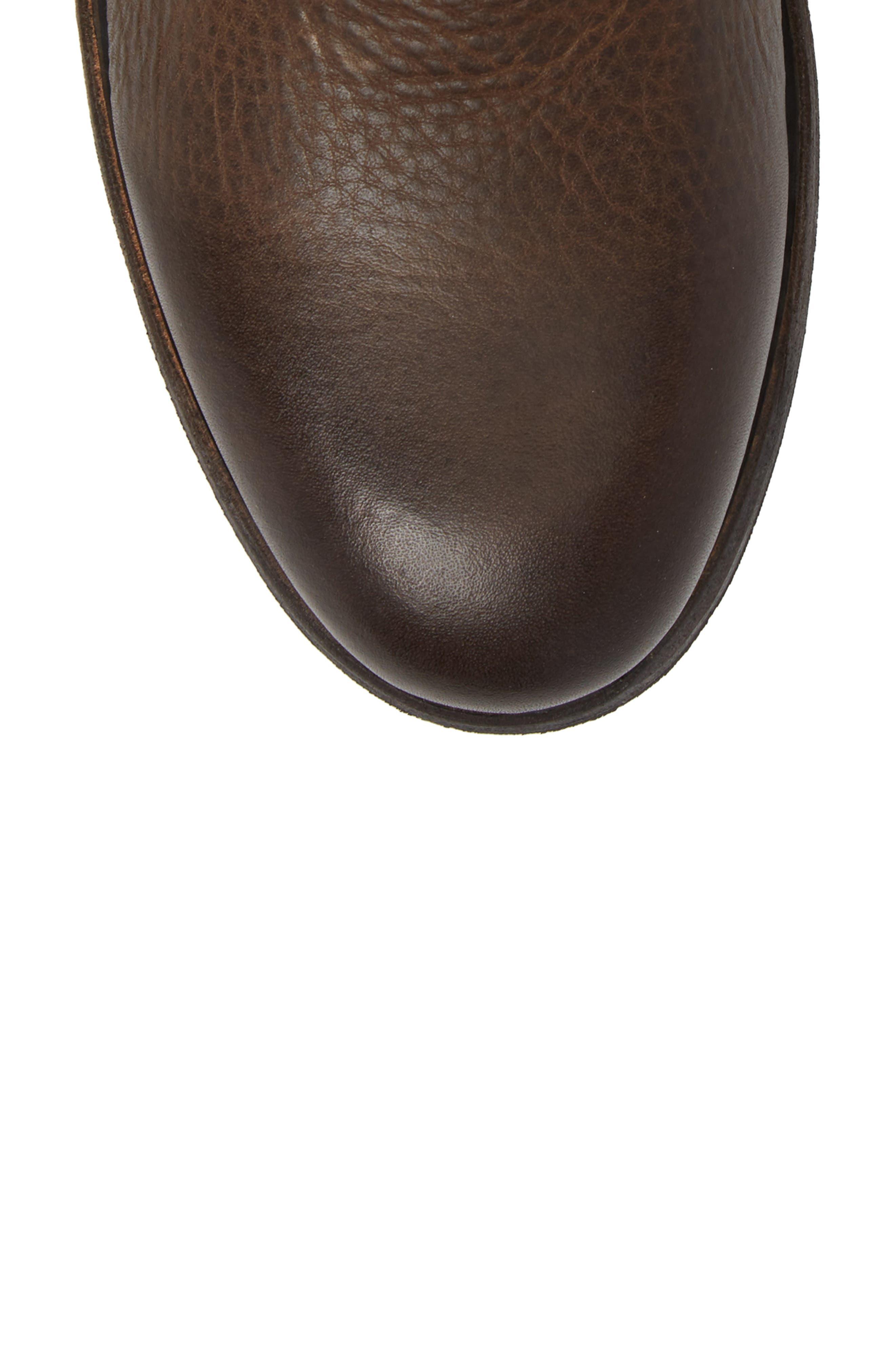 'GM 09' Plain Toe Boot,                             Alternate thumbnail 5, color,                             Gull Leather