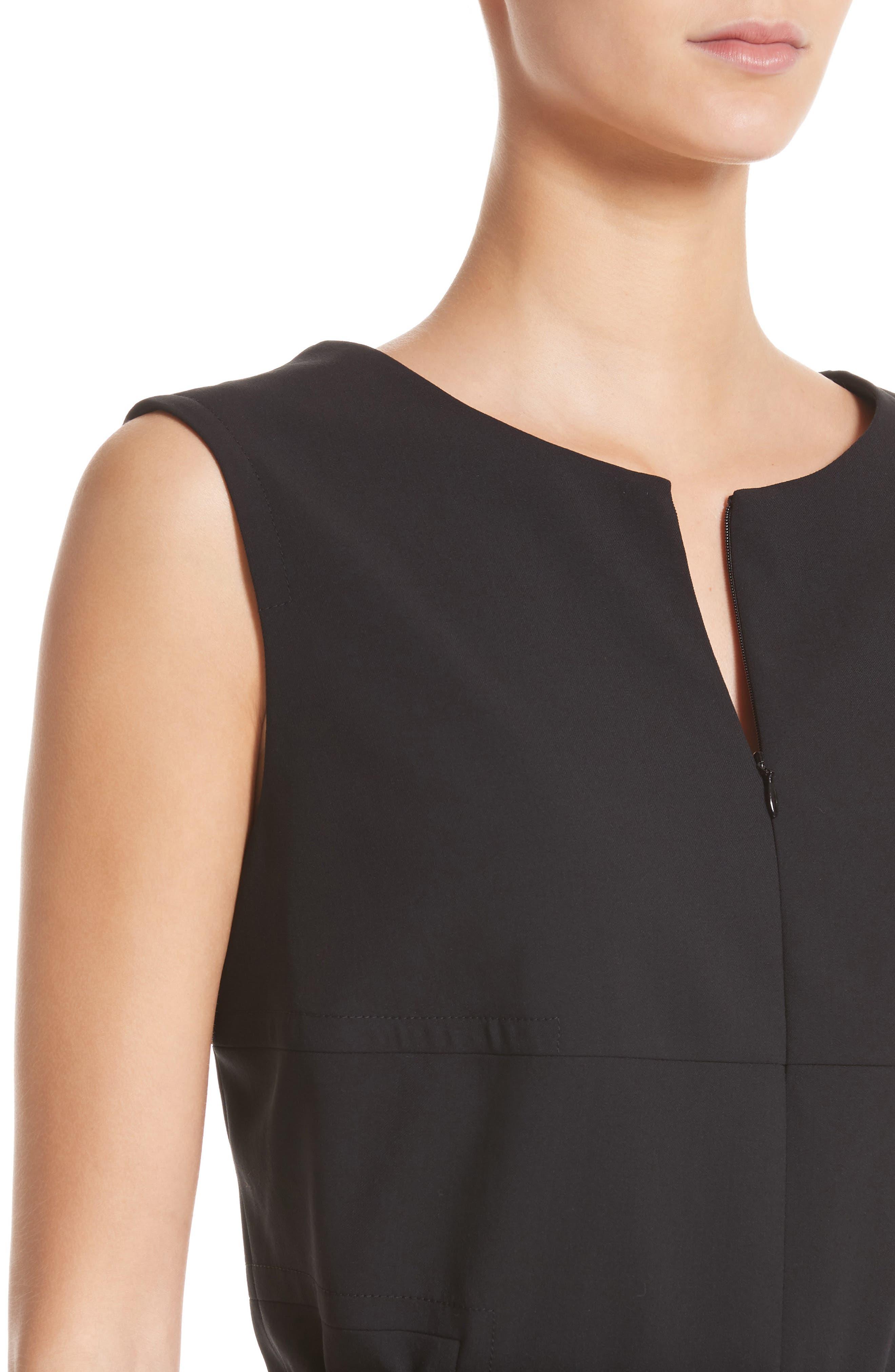 Alternate Image 4  - Akris punto Belted Zip Front Wool Dress