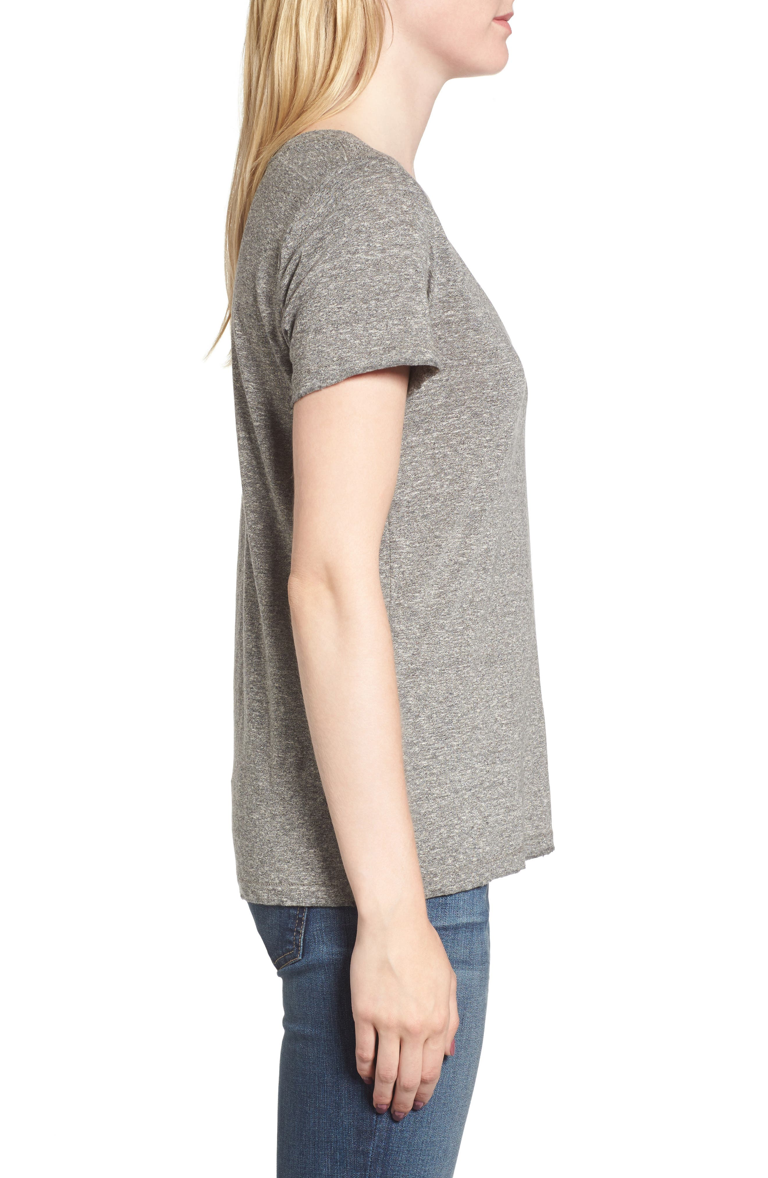 Ringo Distressed Tee,                             Alternate thumbnail 3, color,                             Heather Grey