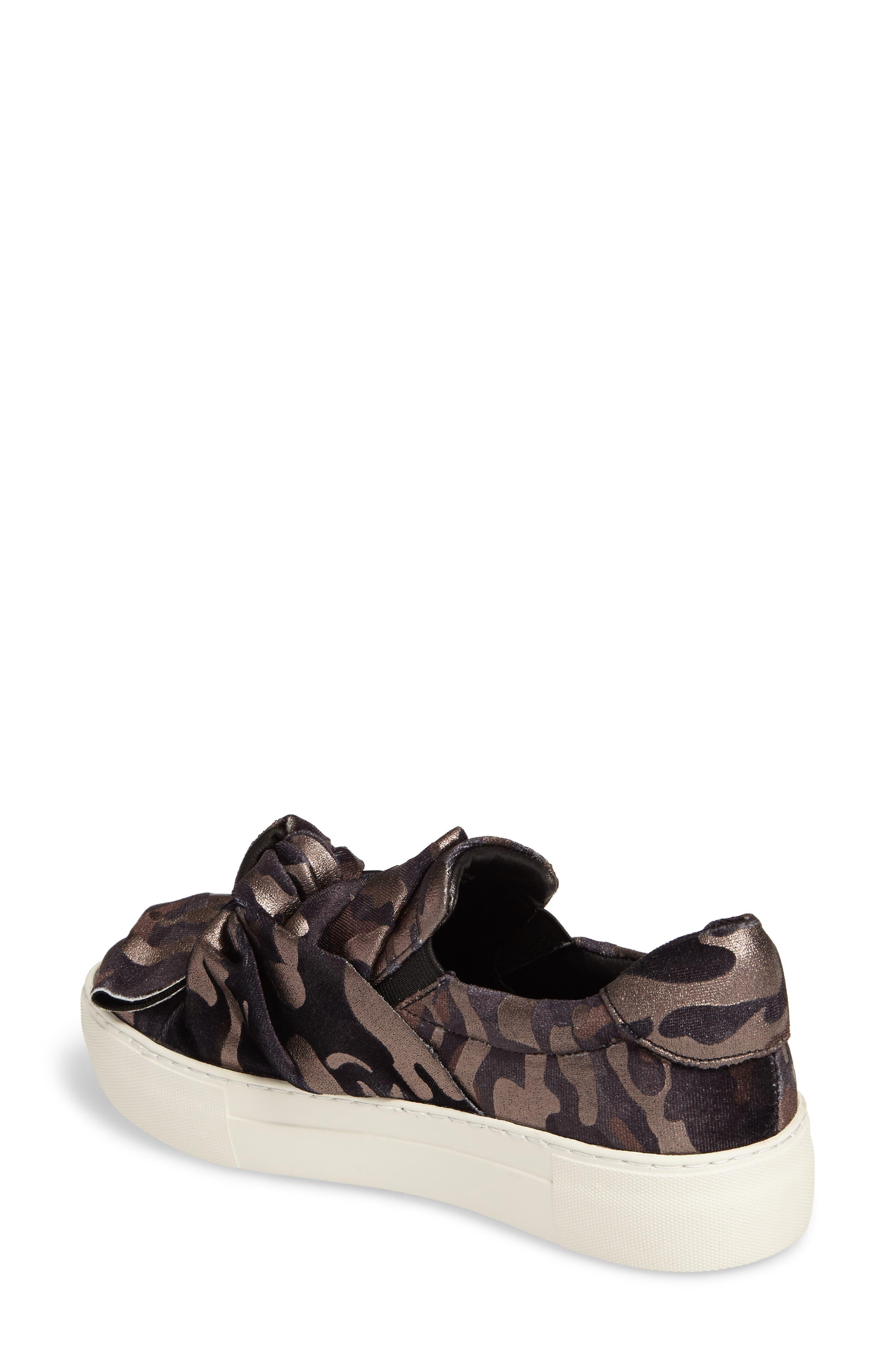 Audra Slip-On Sneaker,                             Alternate thumbnail 2, color,                             Black Camo Fabric