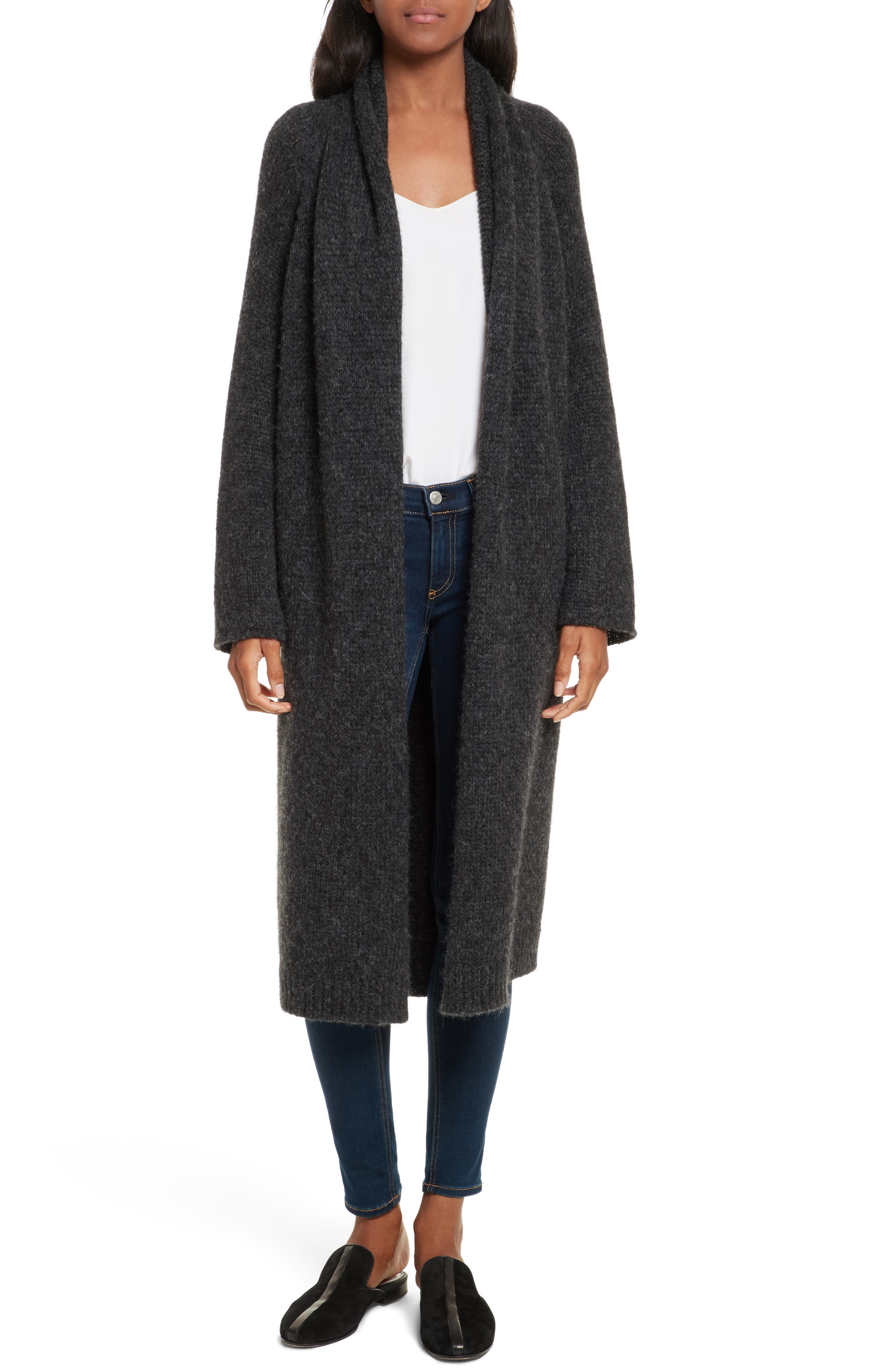 Joie Myrtice Open Front Long Cardigan