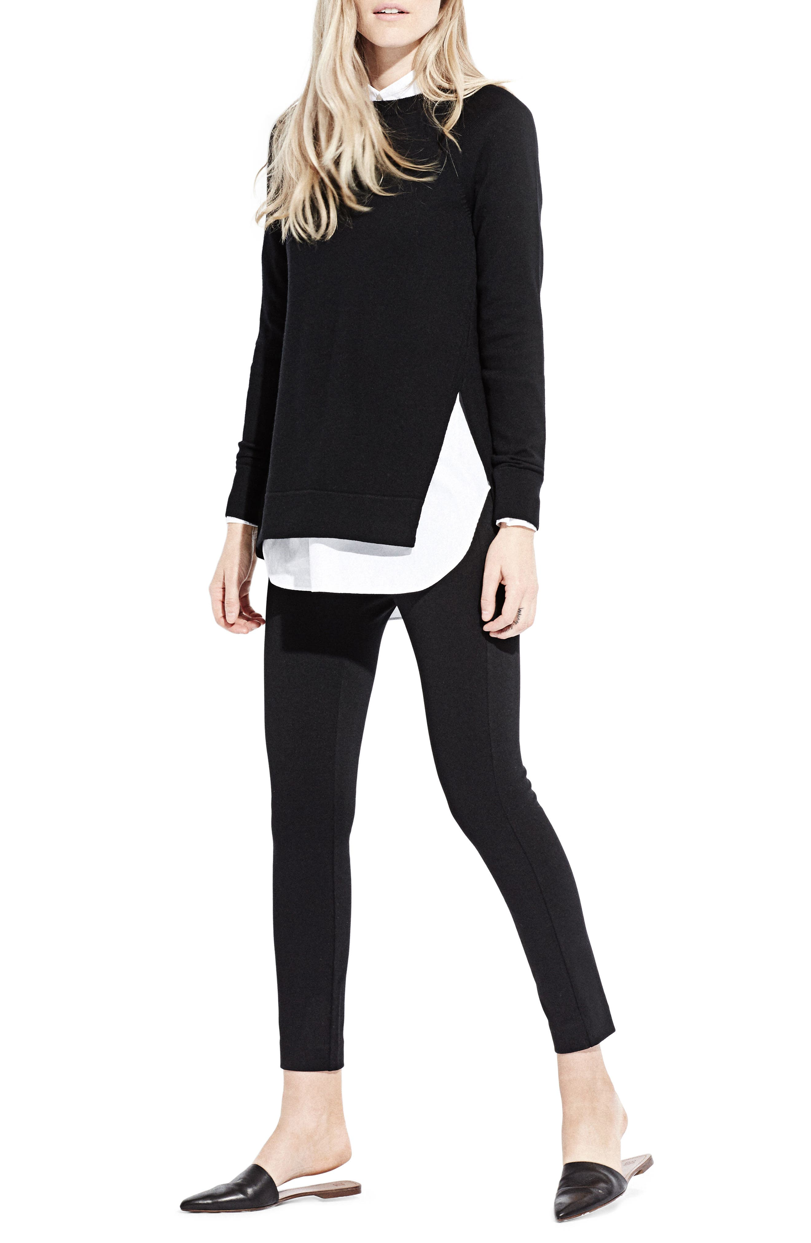 The Twisted Seam Tunic,                             Alternate thumbnail 4, color,                             Black