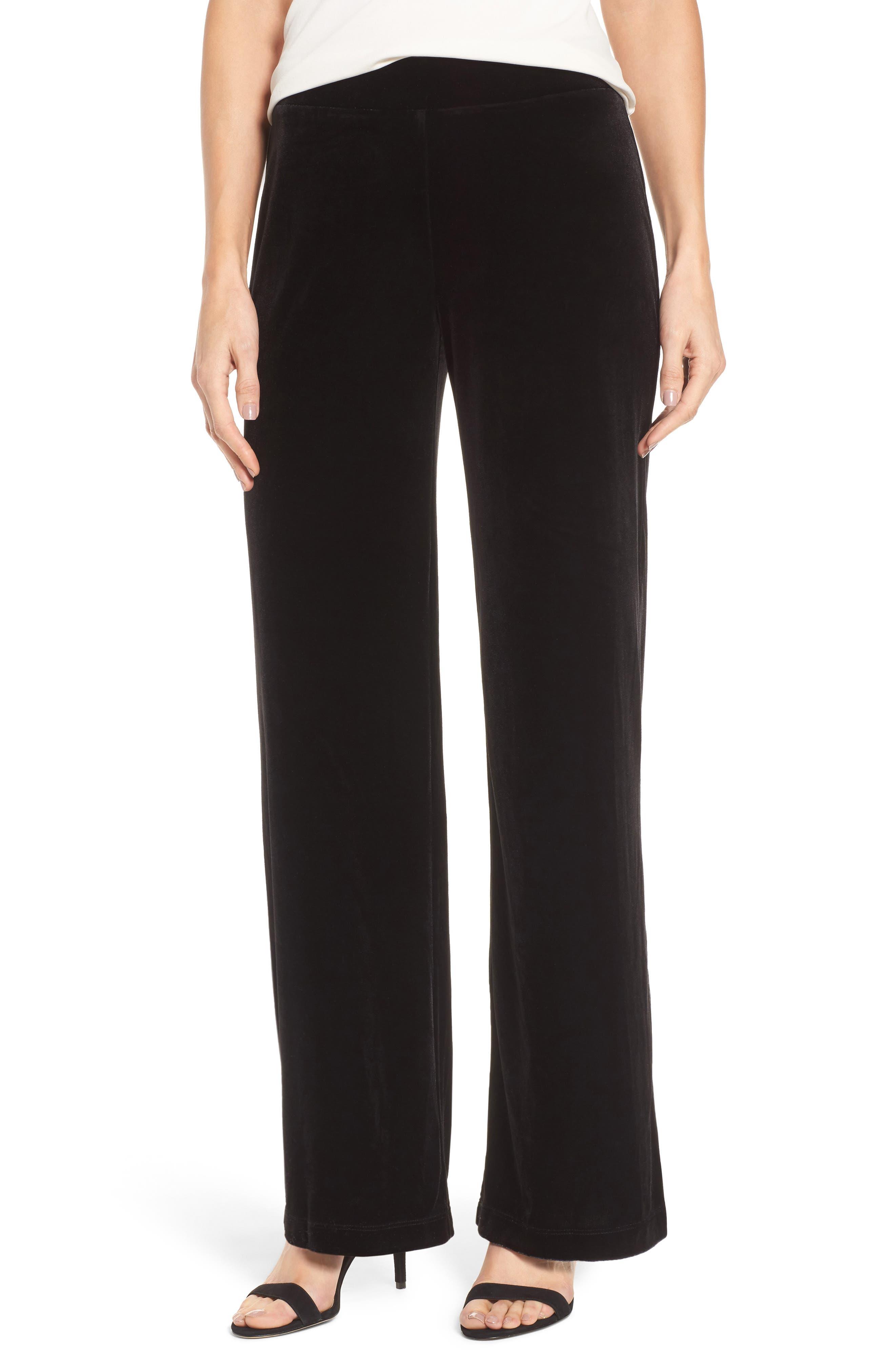 Velvet Pants,                         Main,                         color, Rich Black