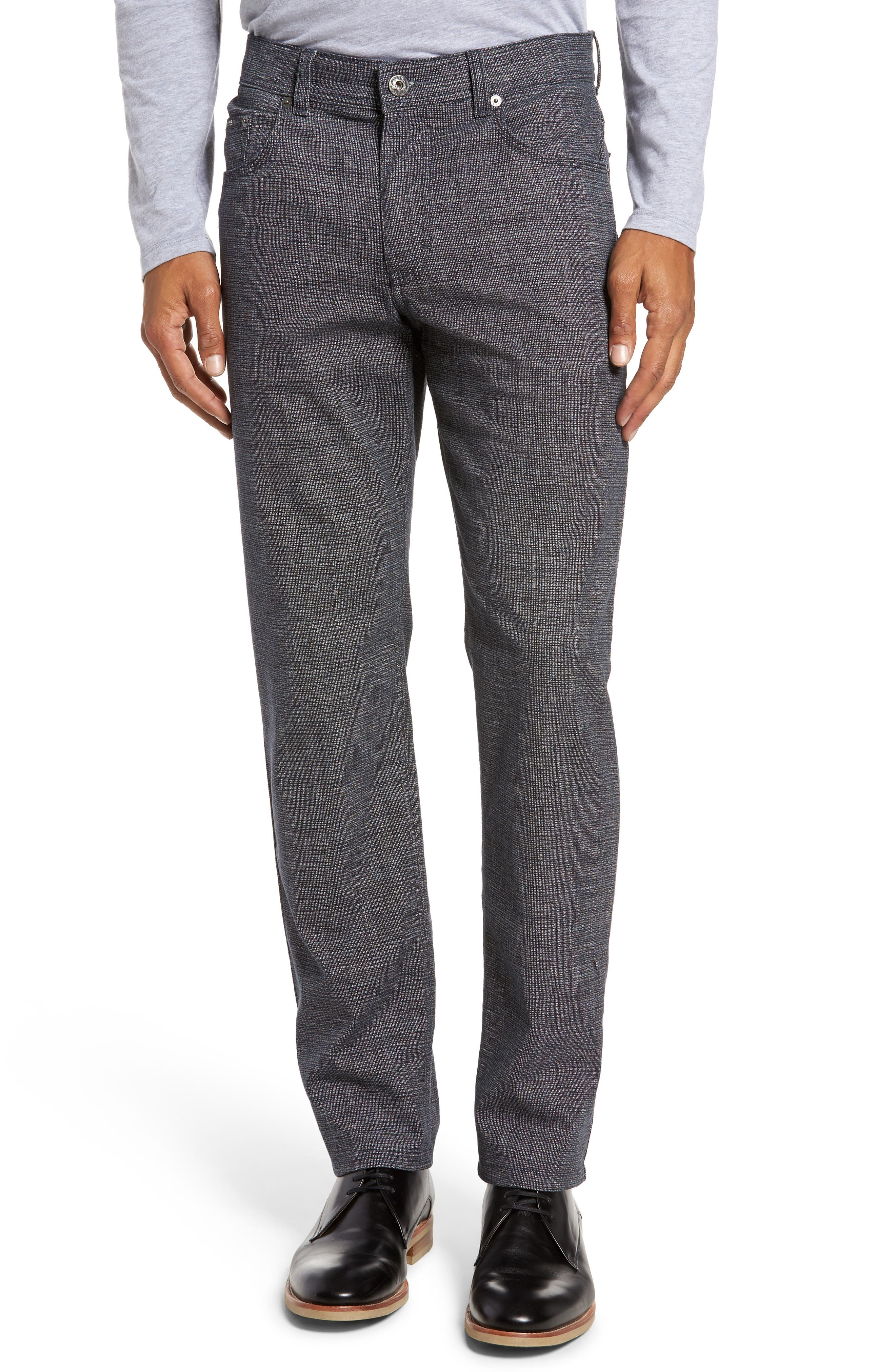 Cotton Blend Five-Pocket Trousers,                         Main,                         color, Midnight