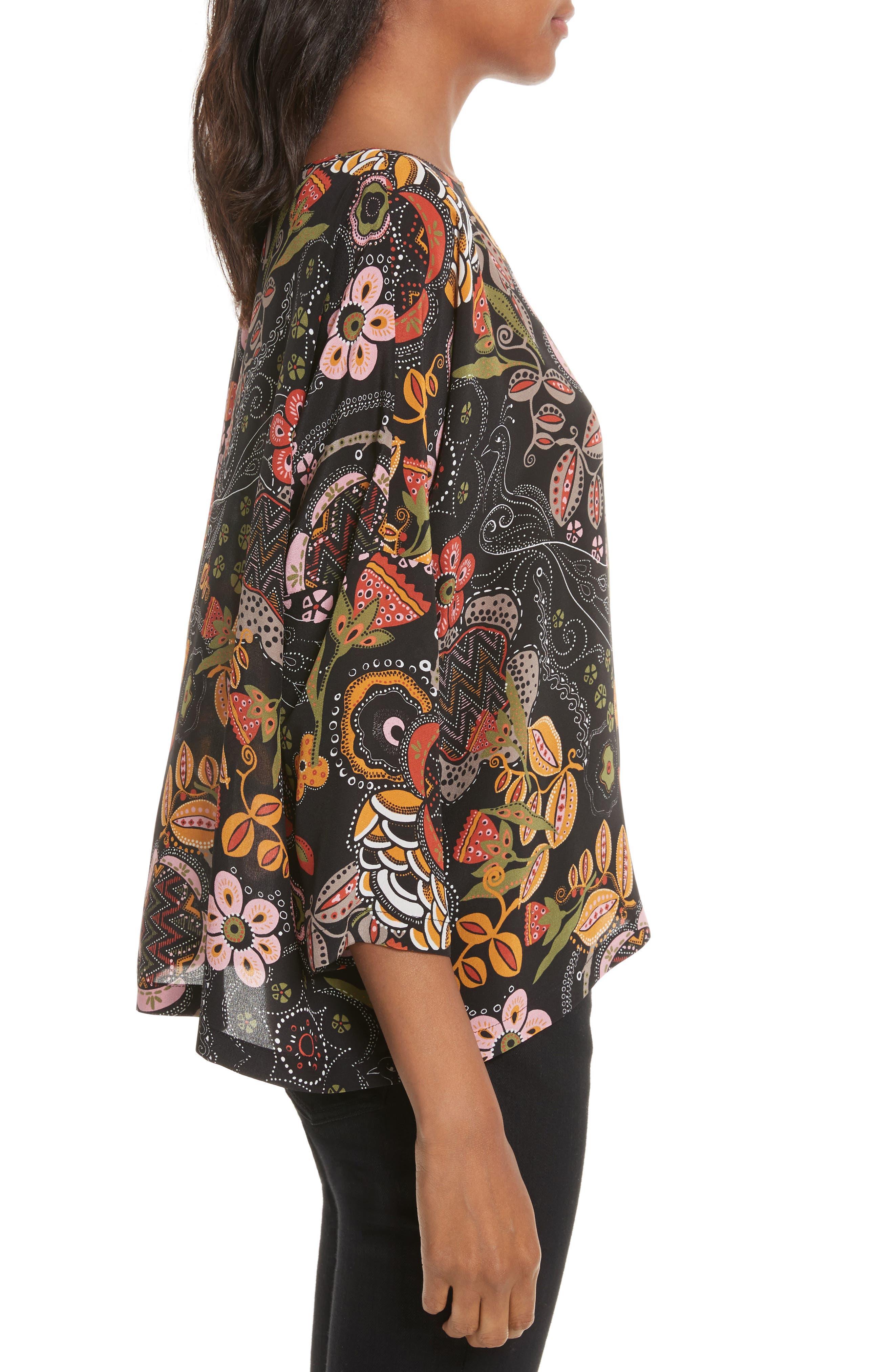 Alternate Image 3  - M Missoni Zigzag Floral Silk Top