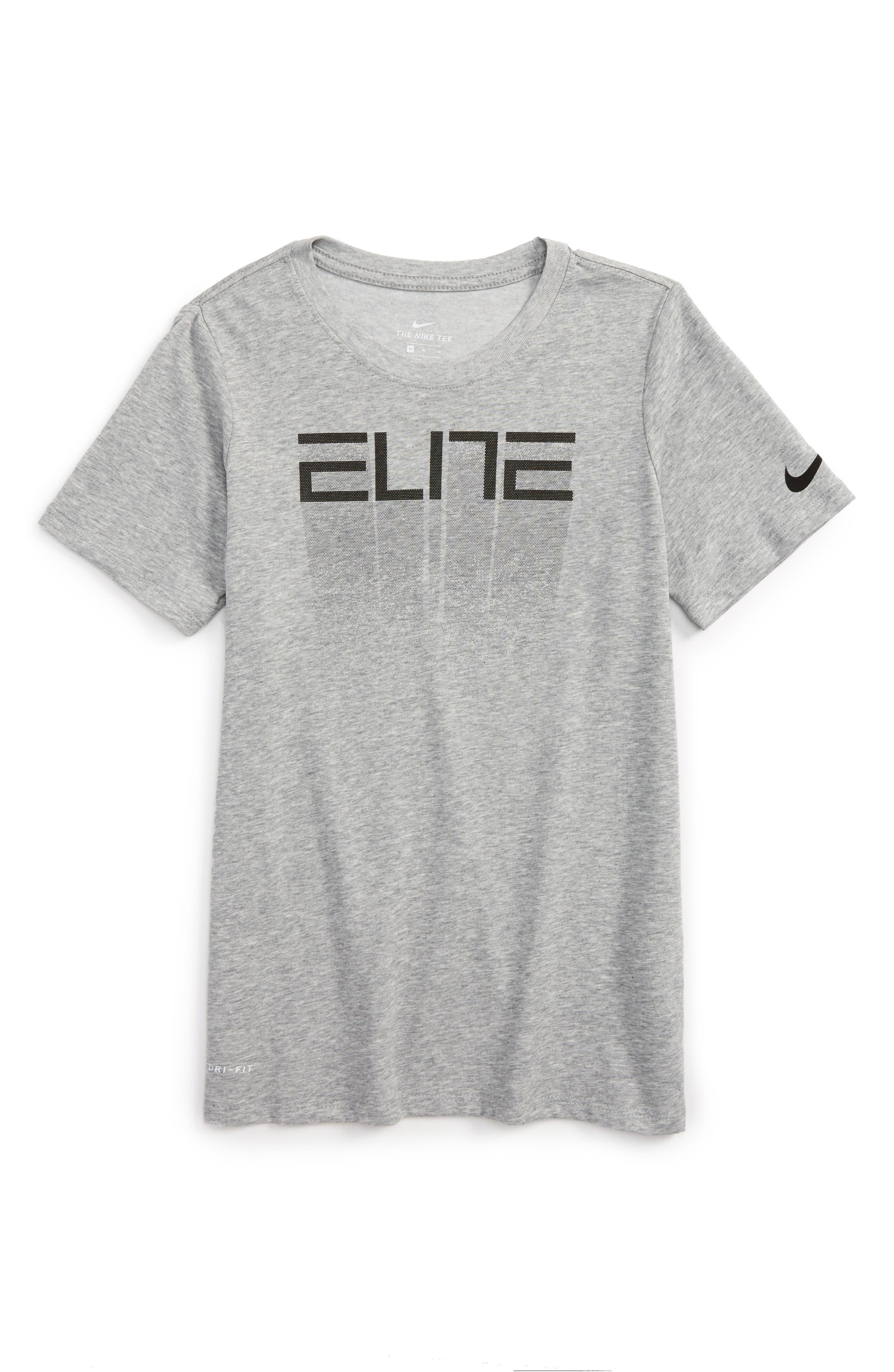 Dry Elite Fade Away Graphic T-Shirt,                             Main thumbnail 1, color,                             D Gr H