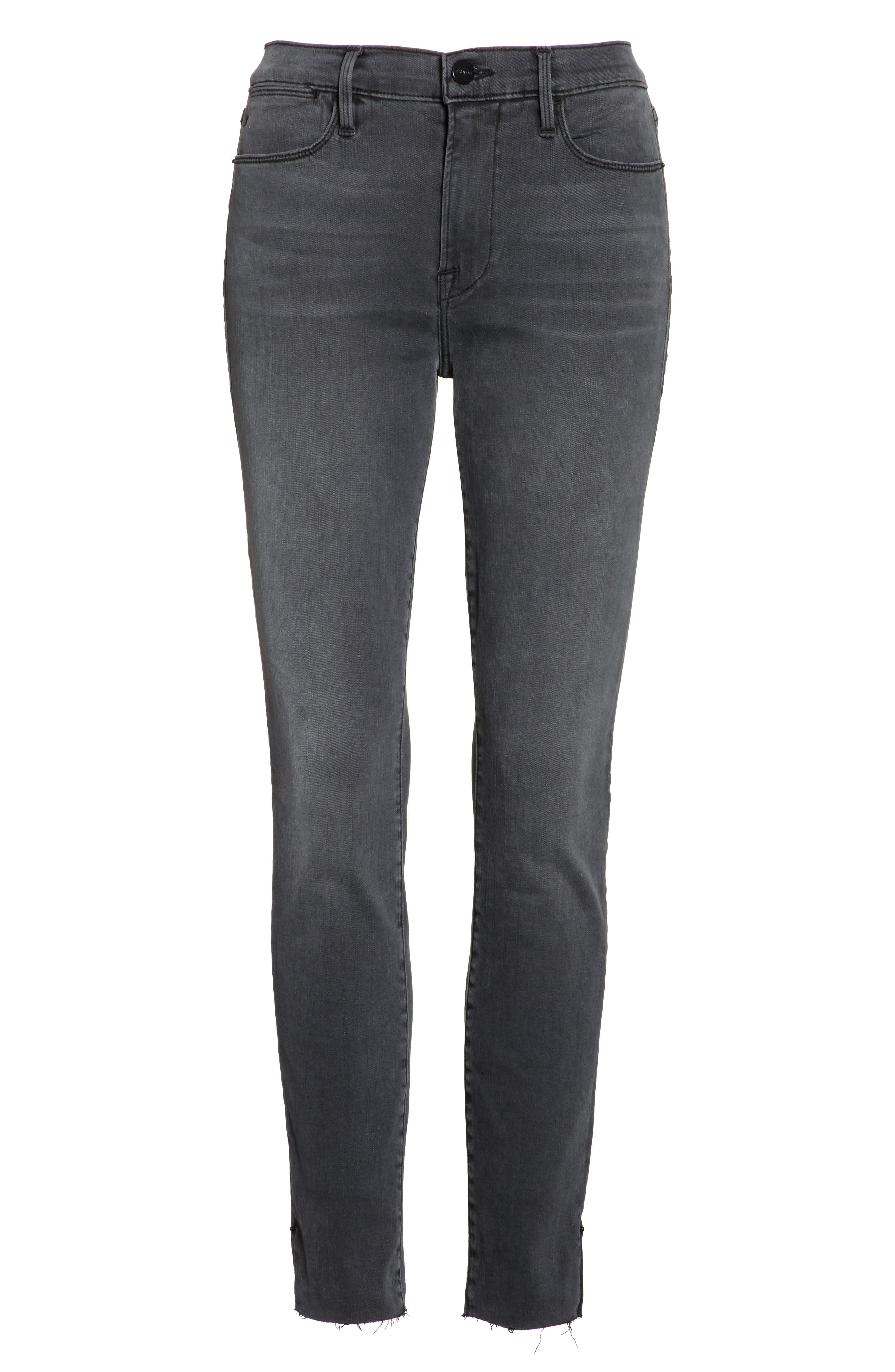 Le High Ankle Skinny Jeans,                             Alternate thumbnail 6, color,                             Dartmouth Exclusive
