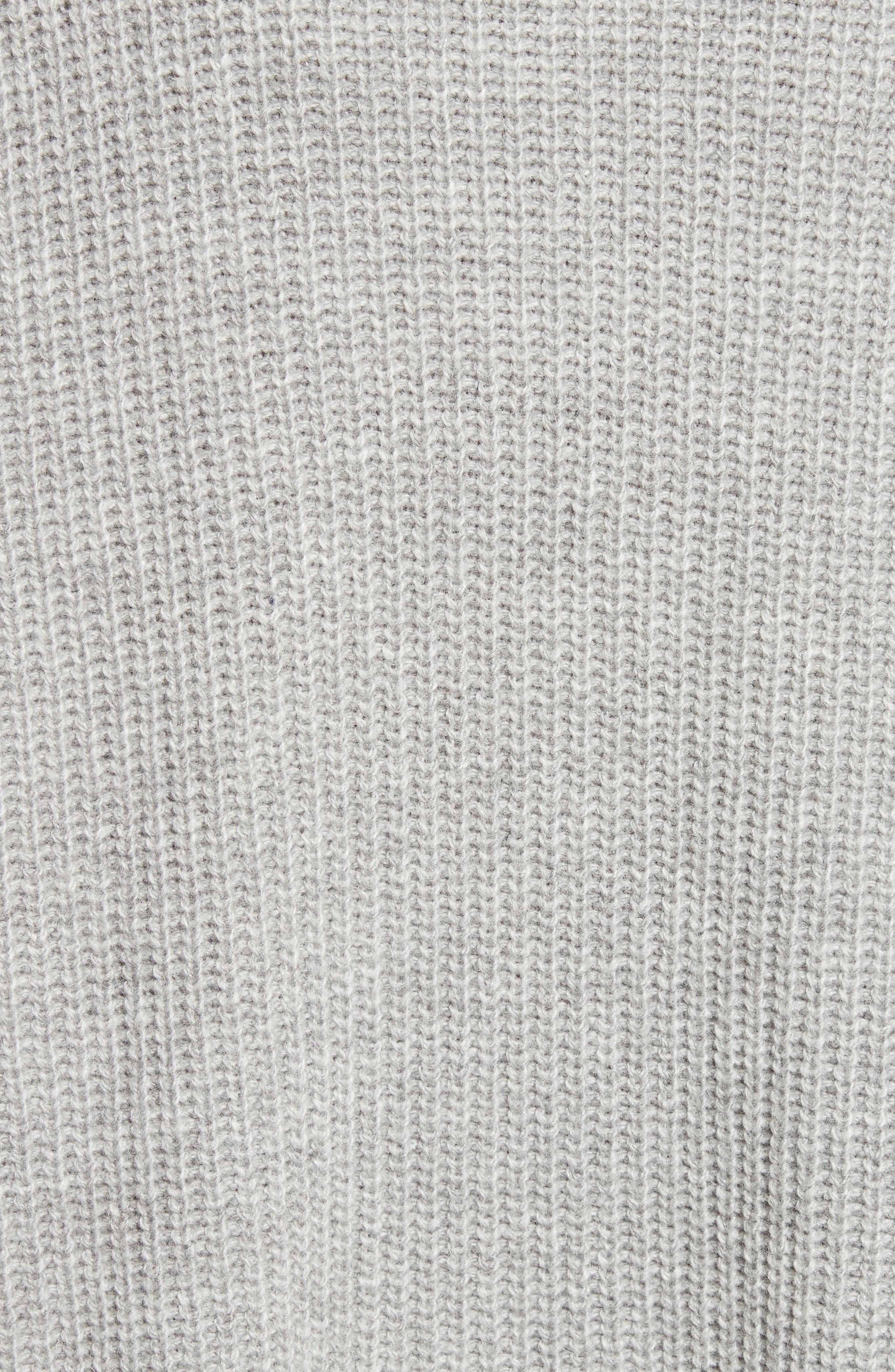 Oversize V-Neck Sweater,                             Alternate thumbnail 6, color,                             Gris