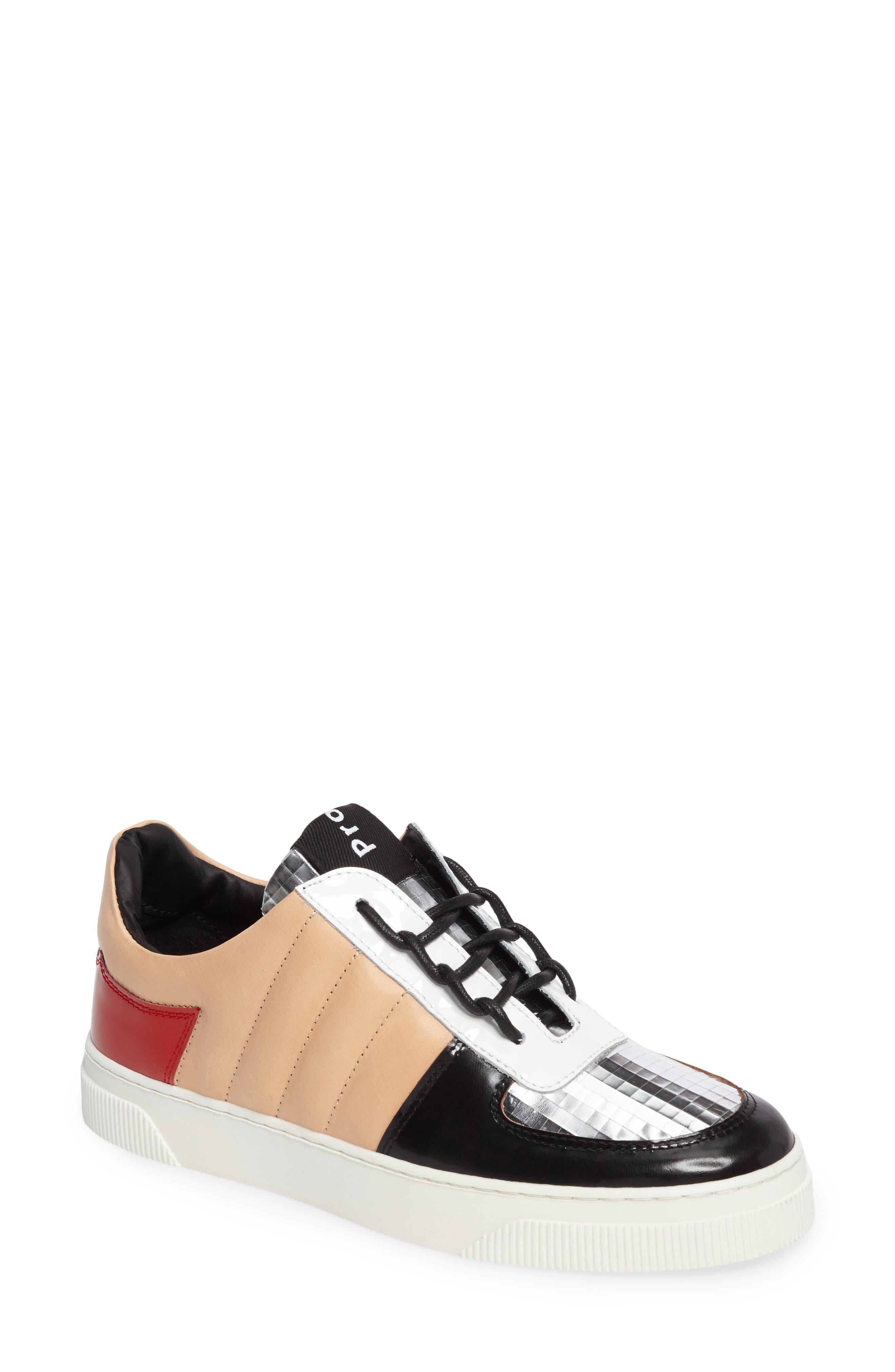 Sneaker,                         Main,                         color, Beige/ Silver