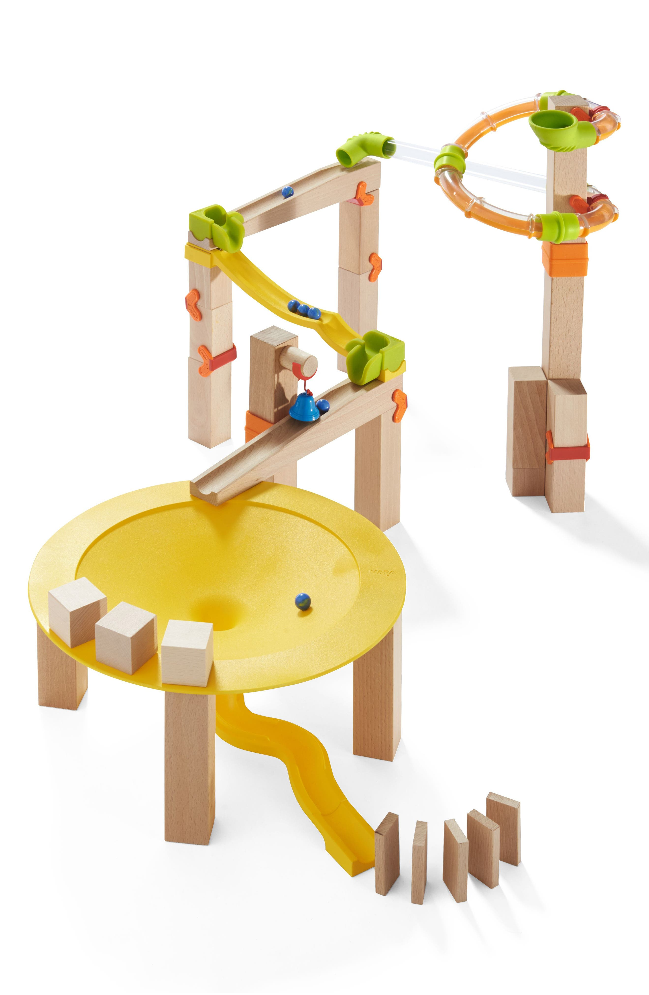 My First Ball Track 44-Piece Basic Pack Funnel Track Play Set,                         Main,                         color, Brown