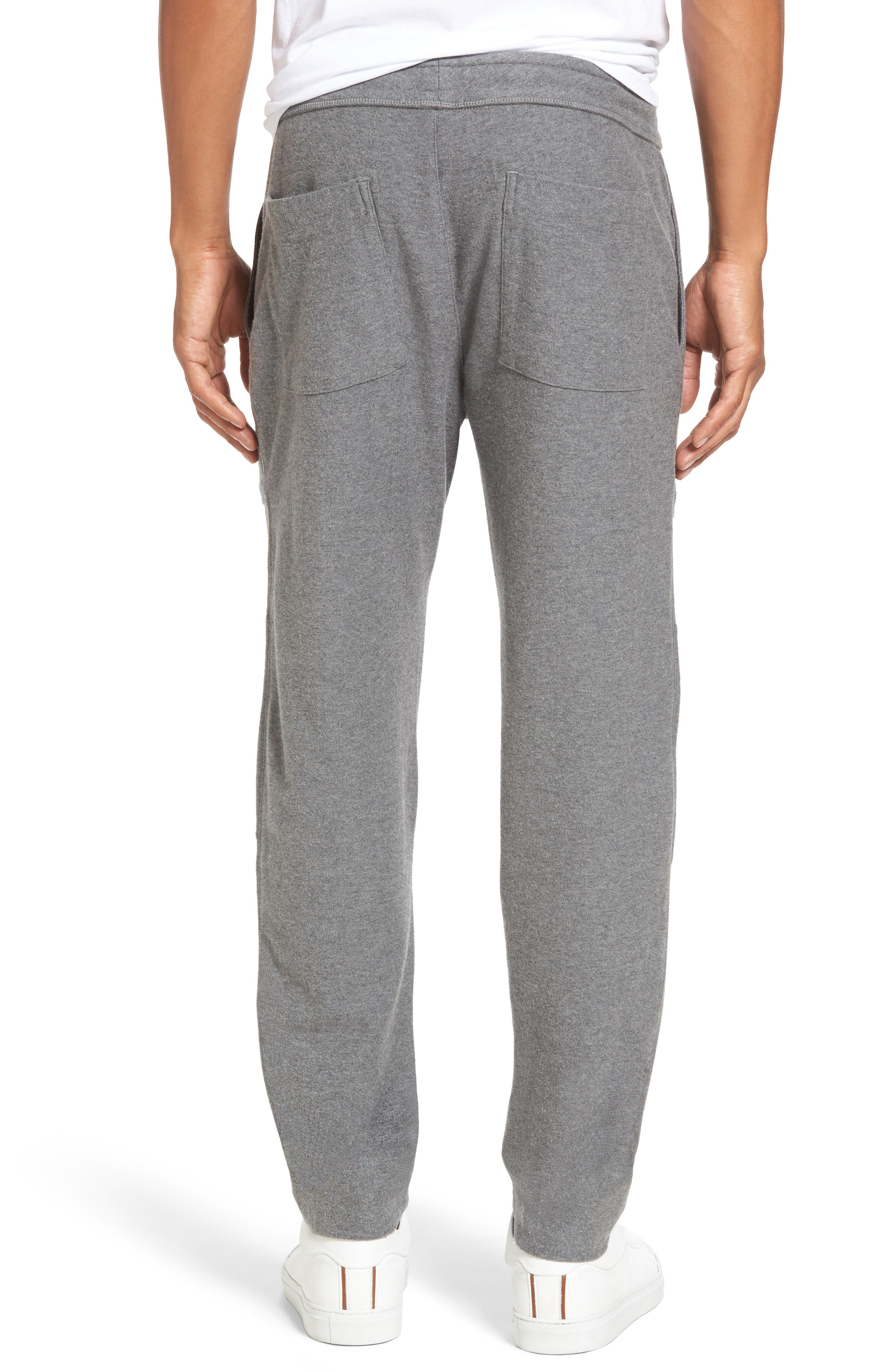 Heathered Knit Lounge Pants,                             Alternate thumbnail 2, color,                             Heather Grey