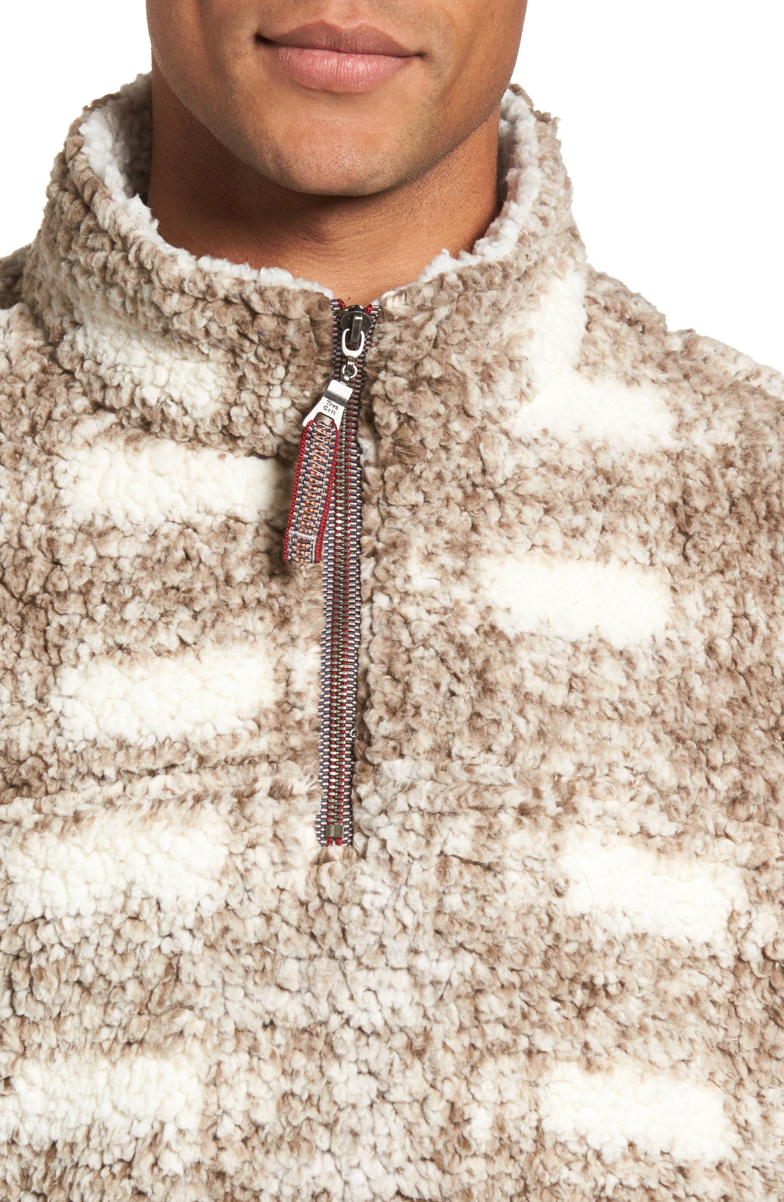 Alternate Image 4  - True Grit Big Plaid Frosty Tipped Faux Fur Pullover