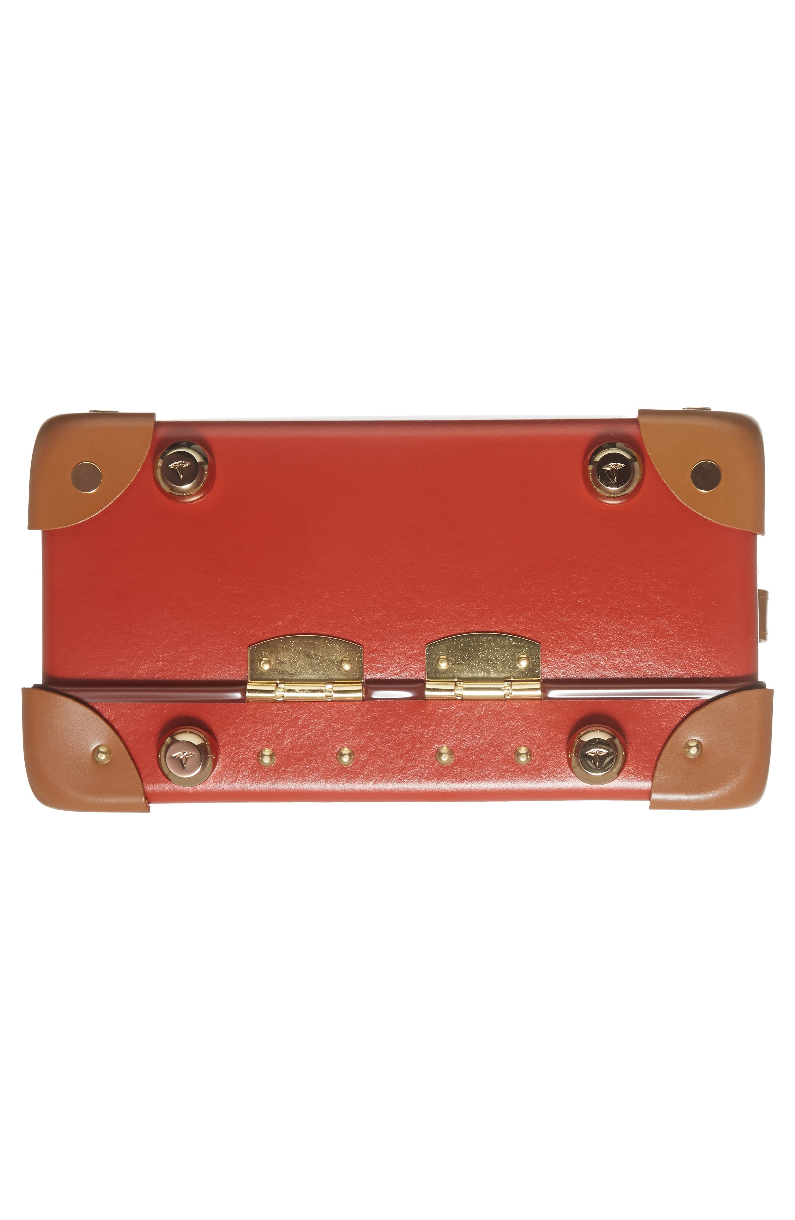 Safari 9-Inch Mini Utility Hardshell Travel Case,                             Alternate thumbnail 6, color,                             Red/Caramel