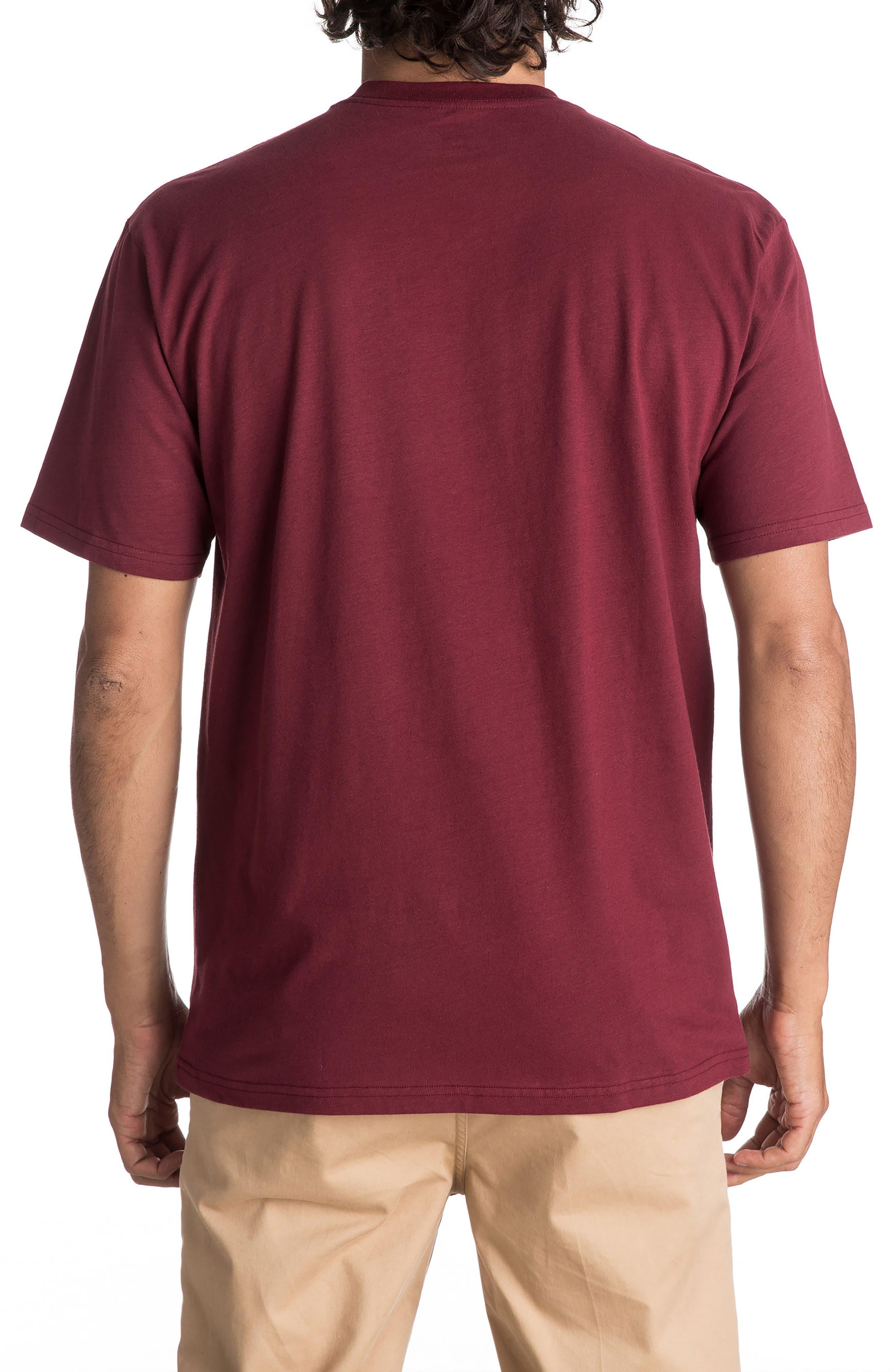 Wordmark T-Shirt,                             Alternate thumbnail 2, color,                             Cabernet