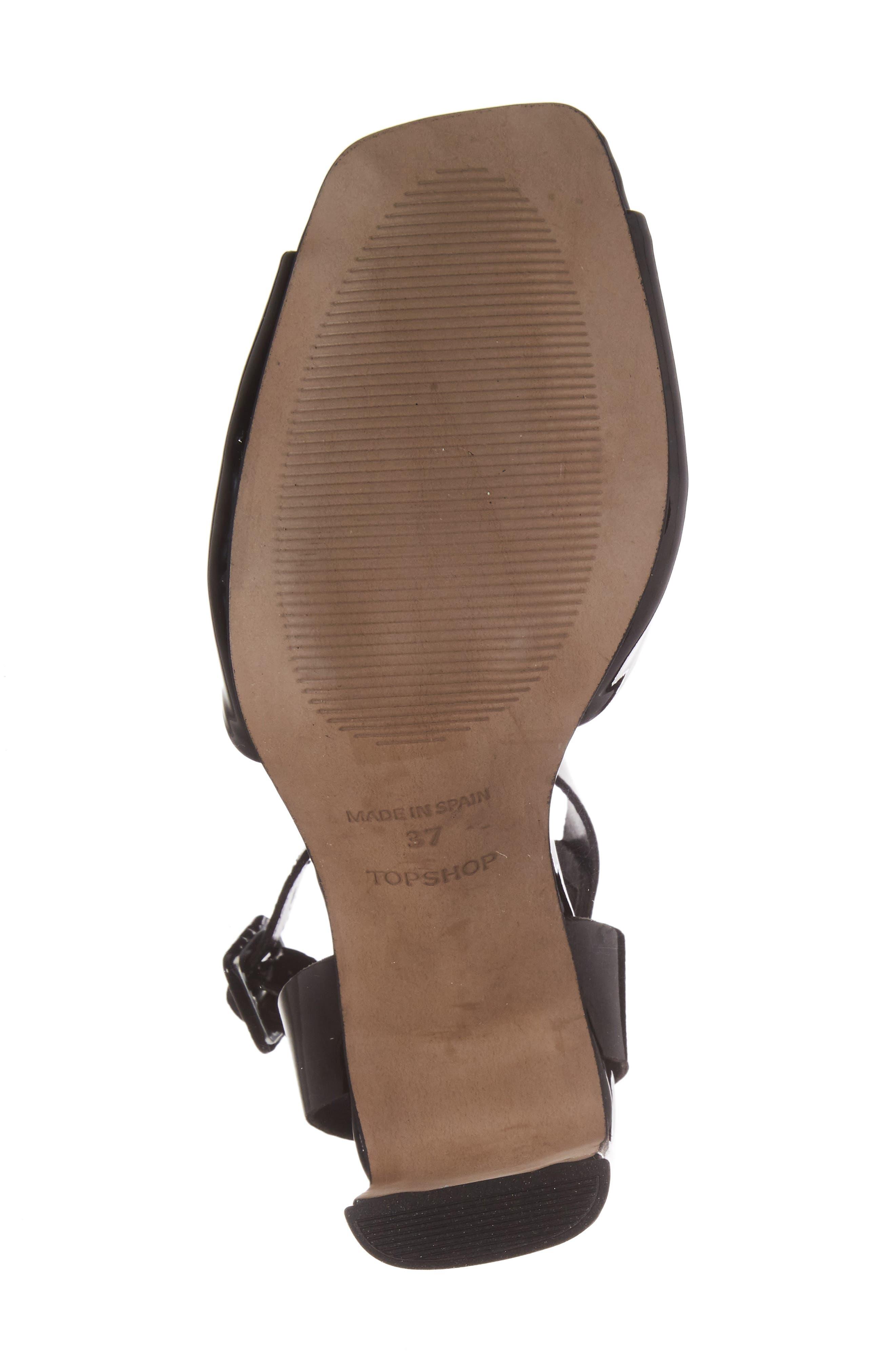 Roux Square Toe Sandal,                             Alternate thumbnail 6, color,                             Black