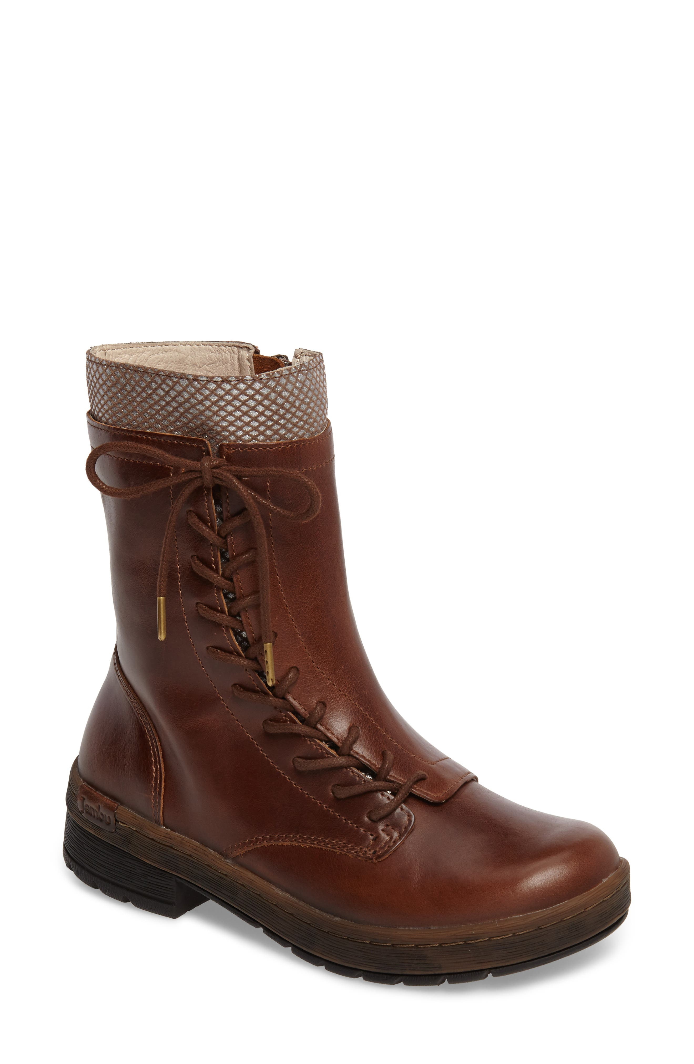 JAMBU Chestnut Lace-Up Water Resistant Boot
