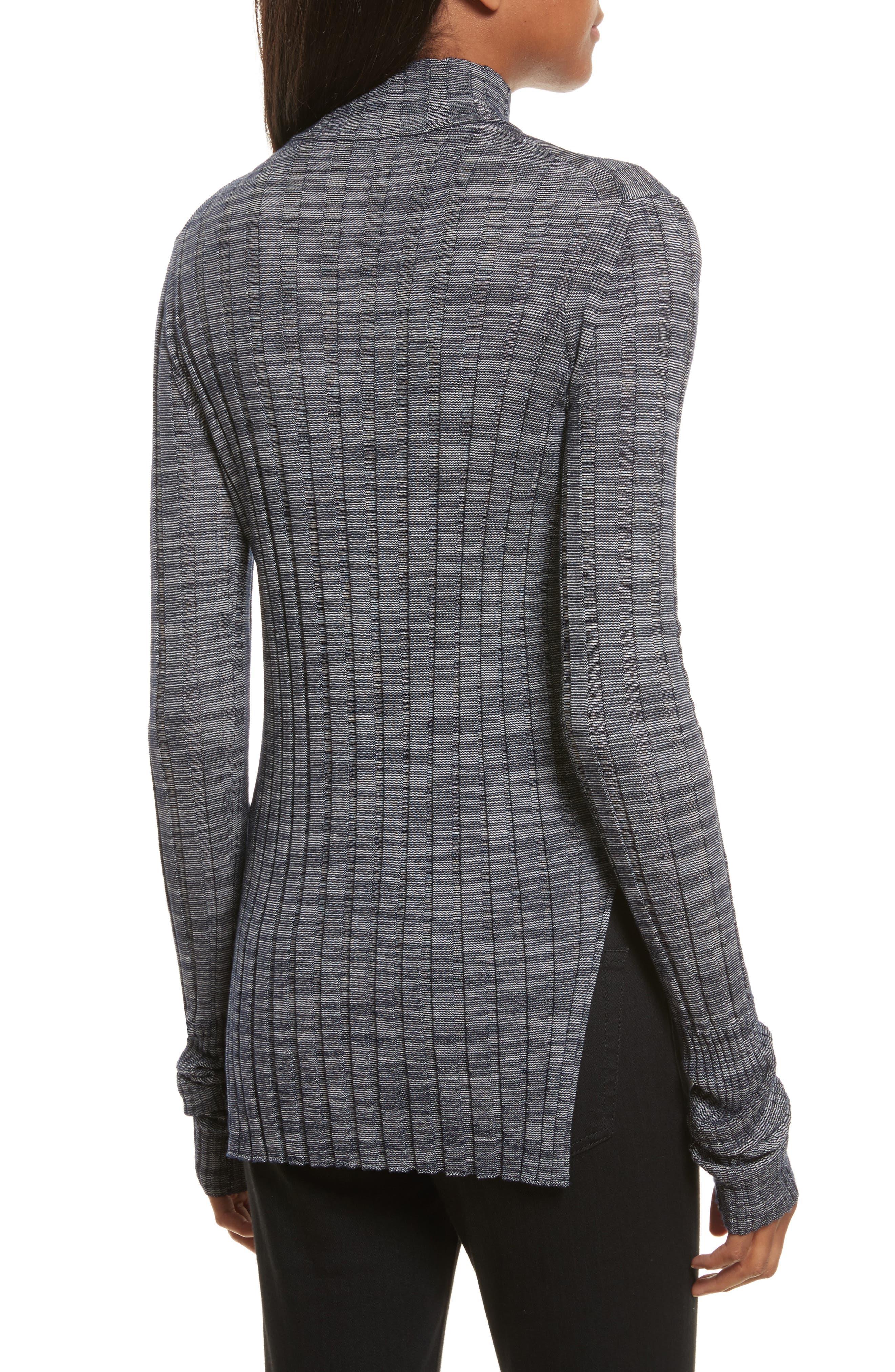 Alternate Image 2  - Theory Wide Ribbed Metallic Merino Wool Sweater