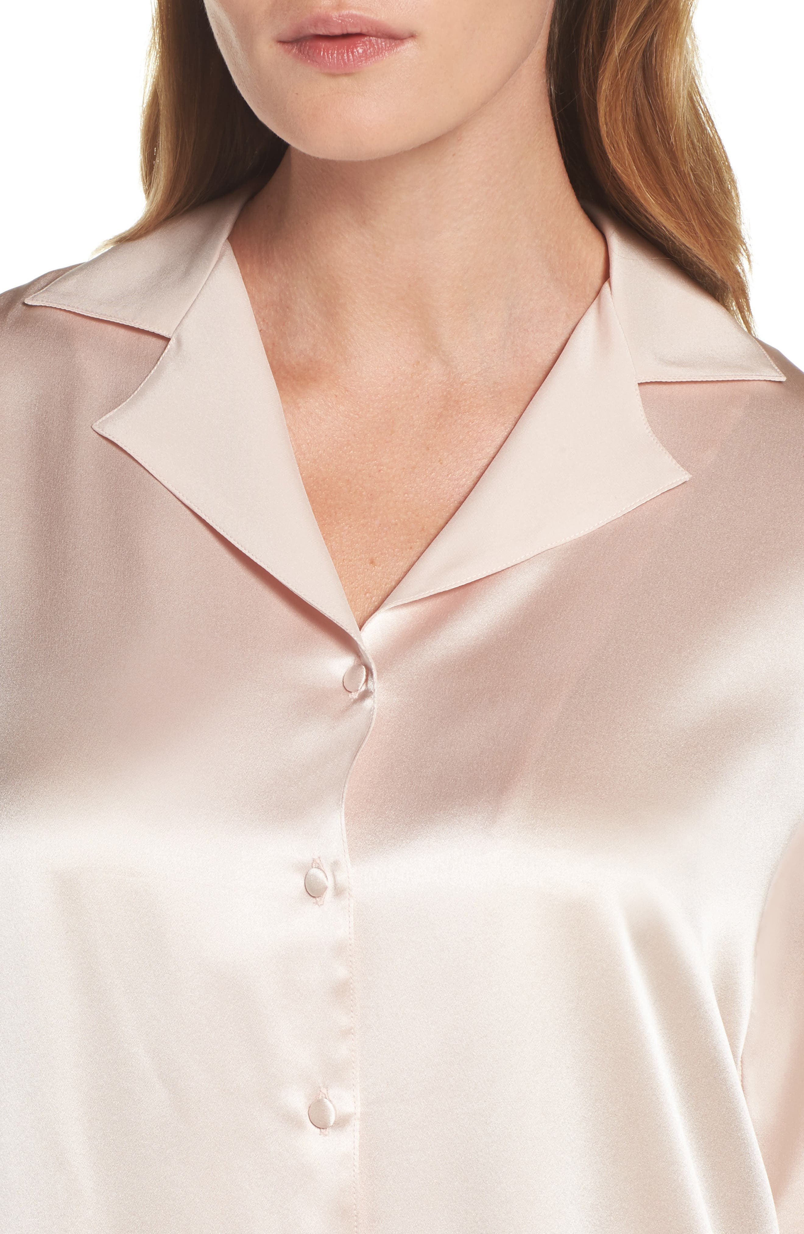 Alternate Image 5  - Christine Silk Sleep Shirt