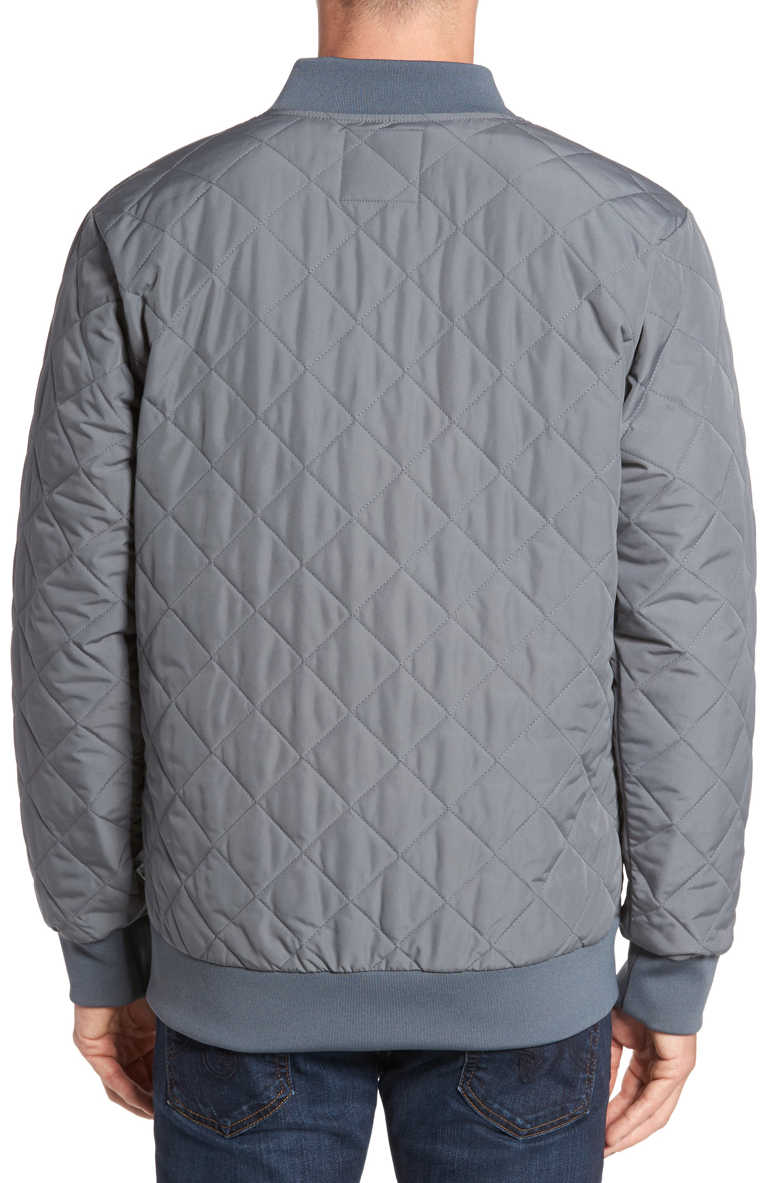 Distributor Quilted Bomber Jacket,                             Alternate thumbnail 2, color,                             Grey