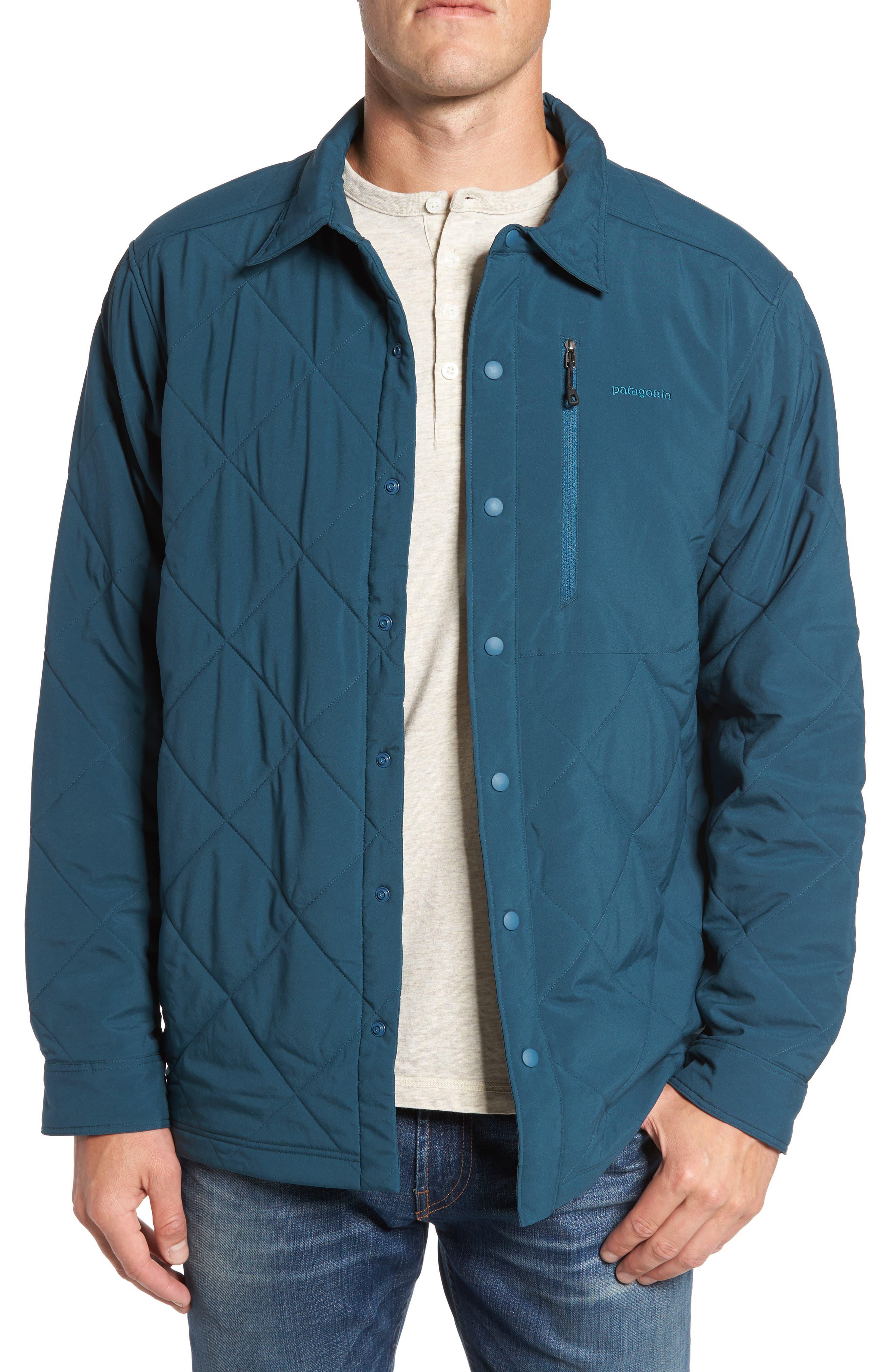 Tough Puff Shirt Jacket,                         Main,                         color, Bay Blue