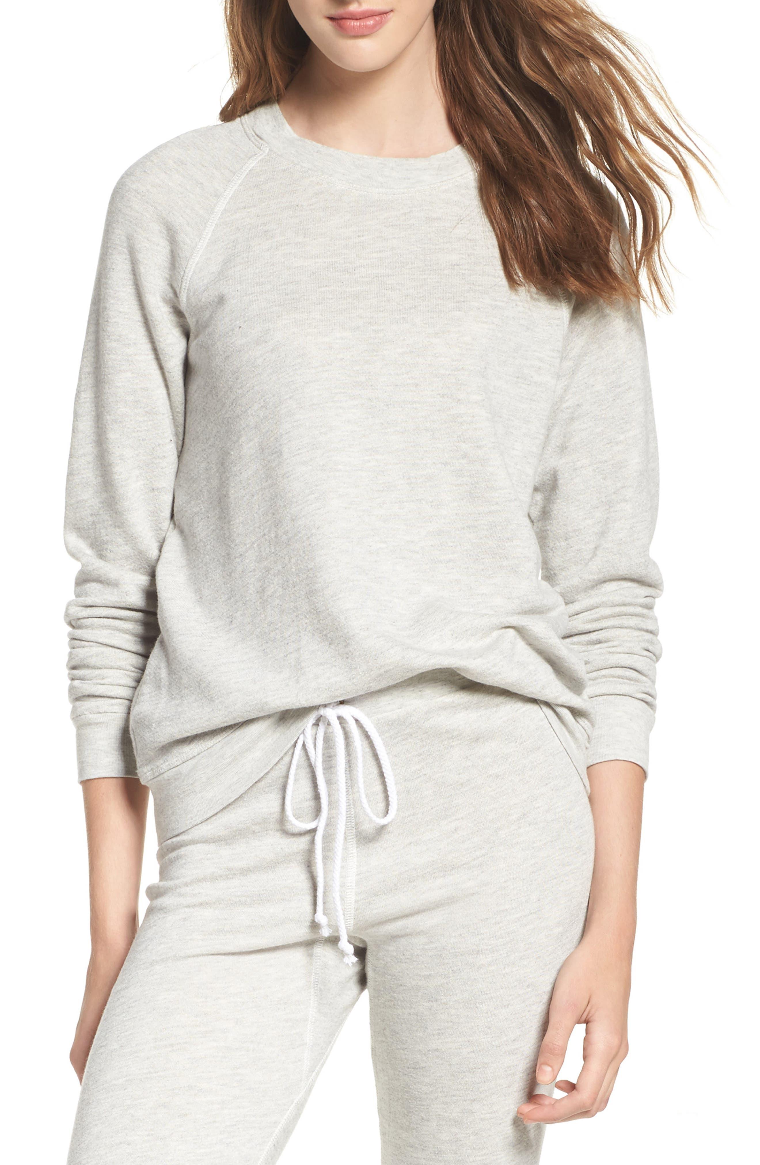 Favorite Sweatshirt,                         Main,                         color, Light Heather Terry