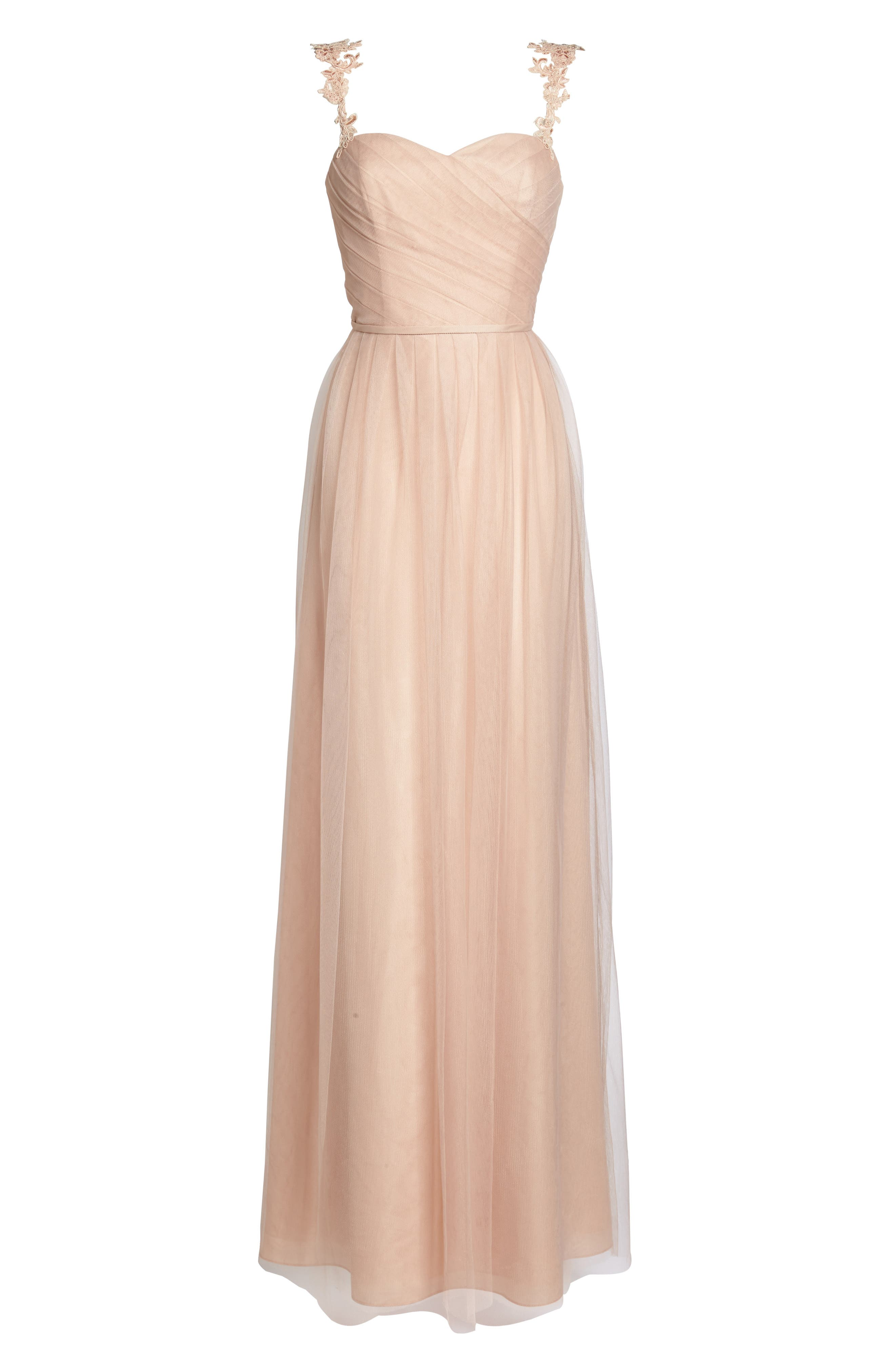 Alternate Image 6  - Monique Lhuillier Bridesmaids Violetta Tulle Gown