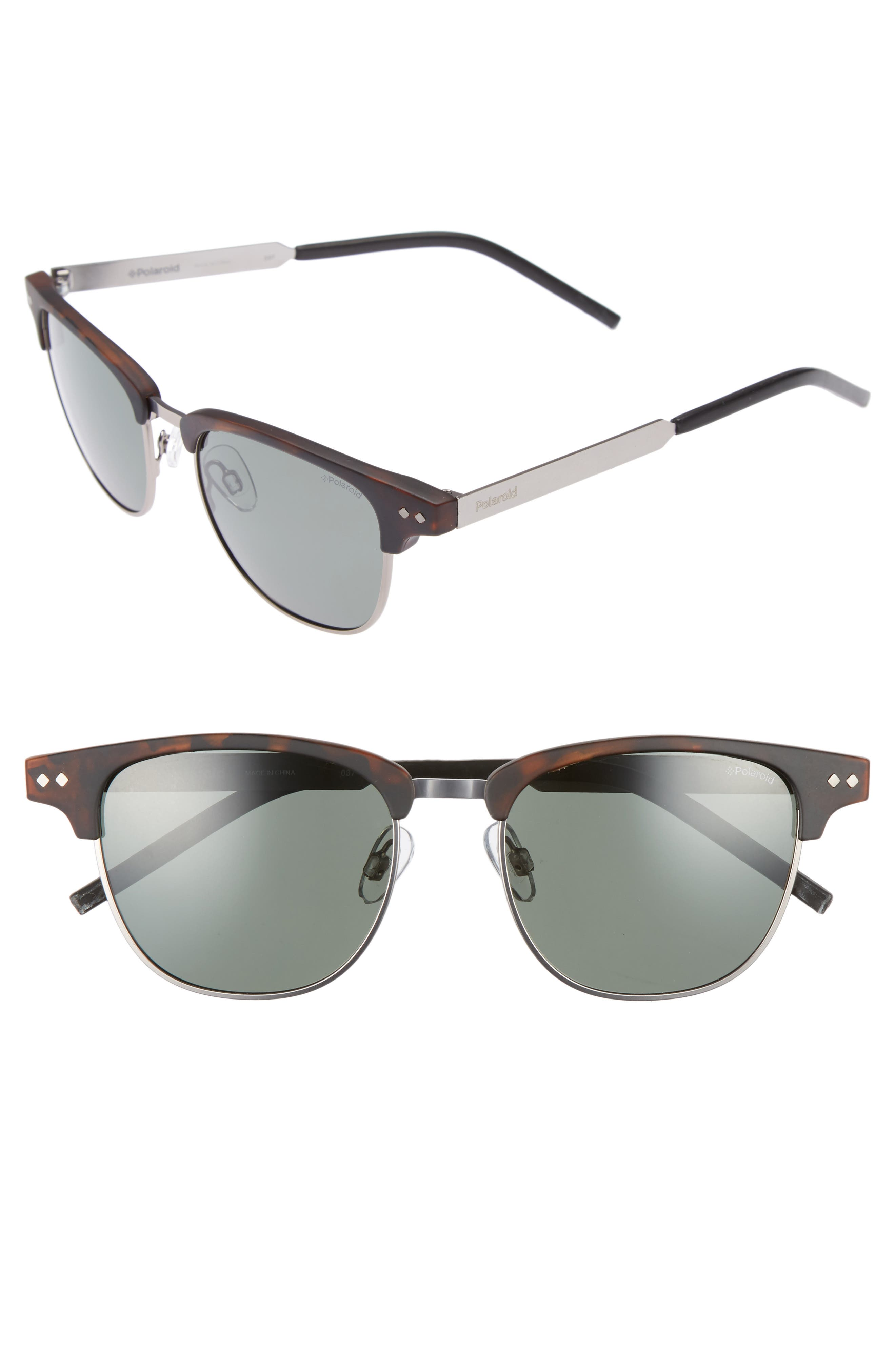 51mm Polarized Cat Eye Sunglasses,                             Main thumbnail 1, color,                             Matte Havana