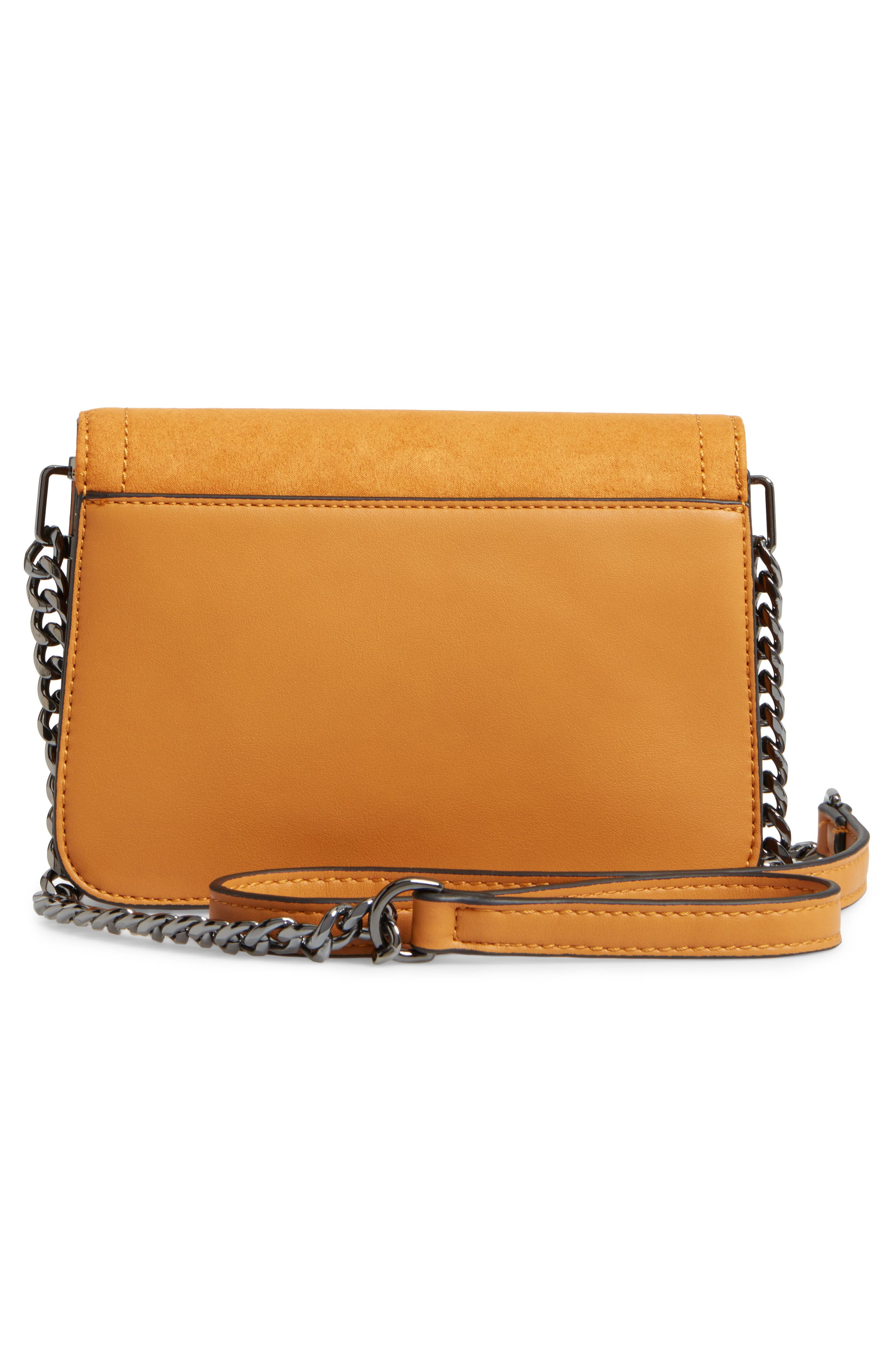 Alternate Image 5  - Topshop Remy Trophy Faux Leather Crossbody Bag