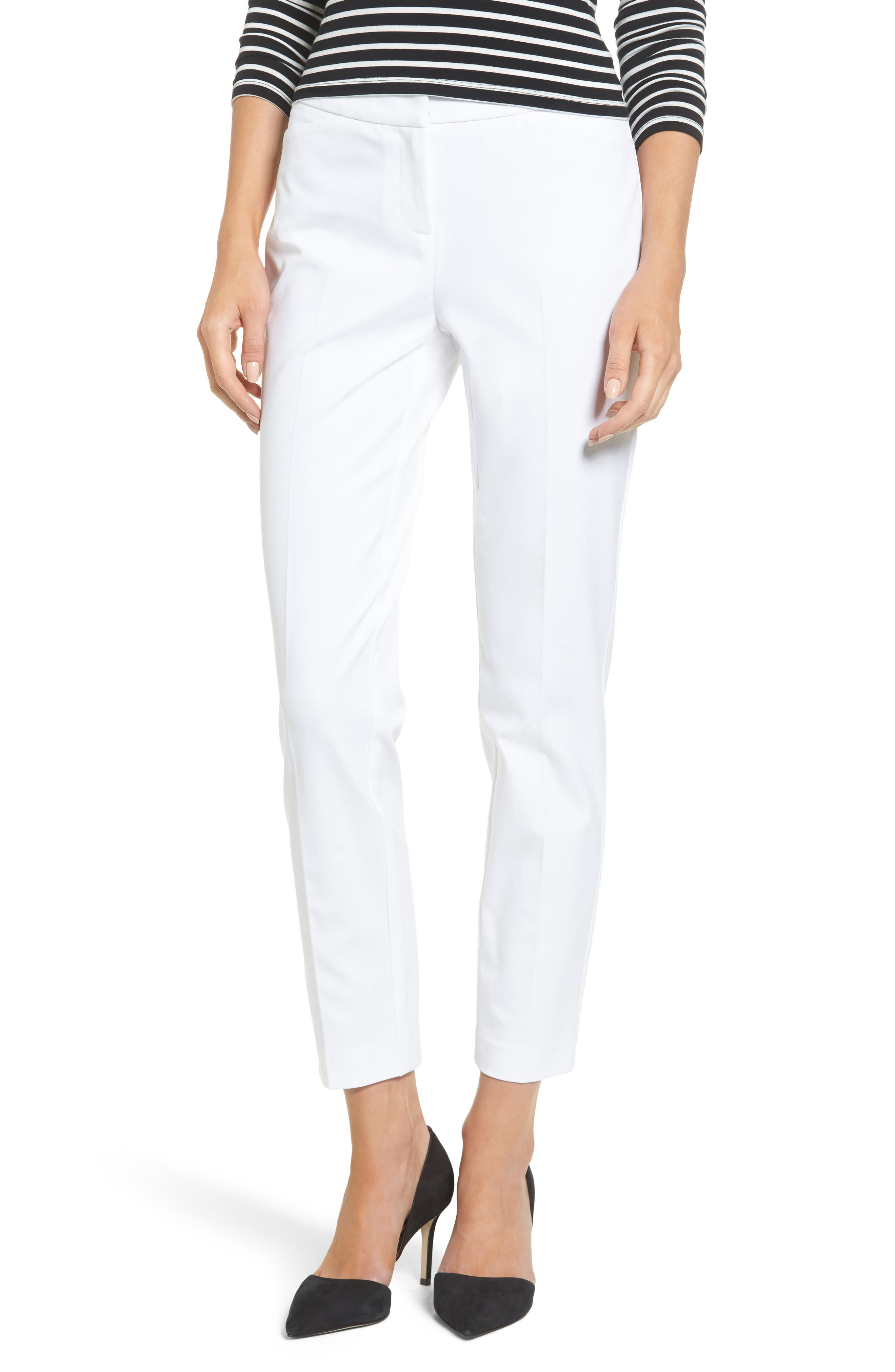 Ankle Pants,                         Main,                         color, White