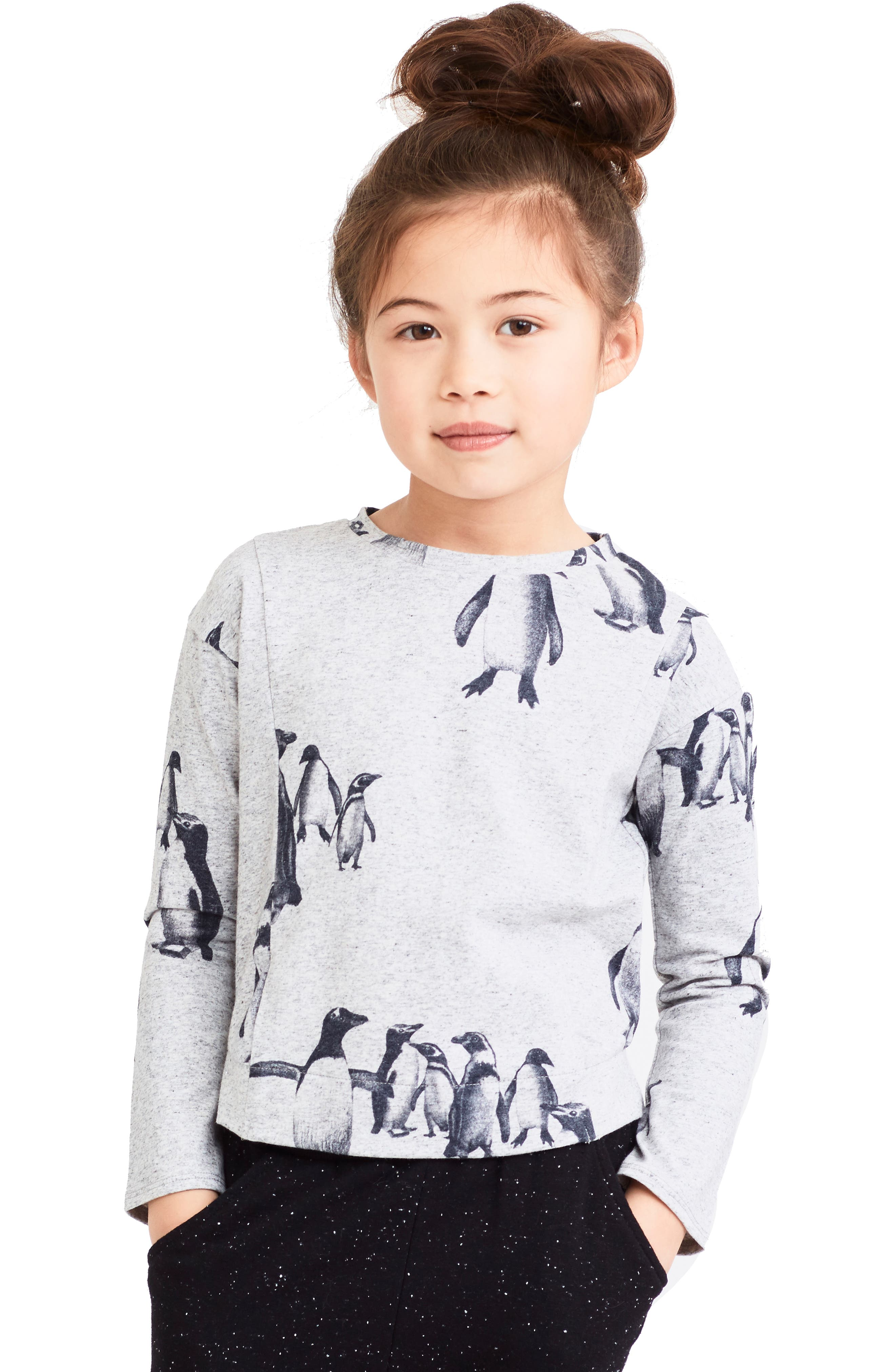 Alternate Image 2  - Art & Eden Eva Penguin Print Tee (Toddler Girls & Little Girls)