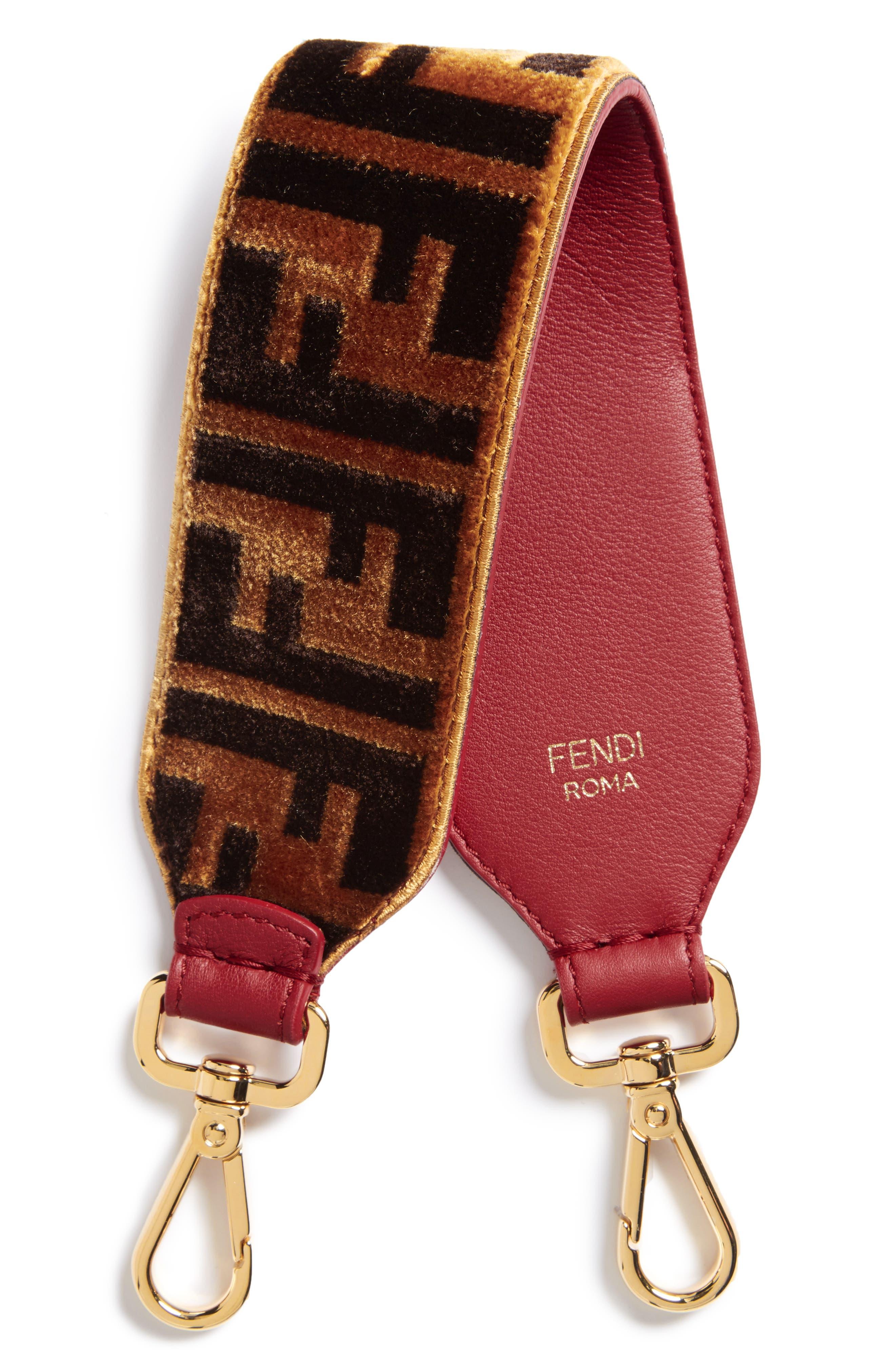 Fendi Mini Strap You Fendi Logo Top Handle Strap