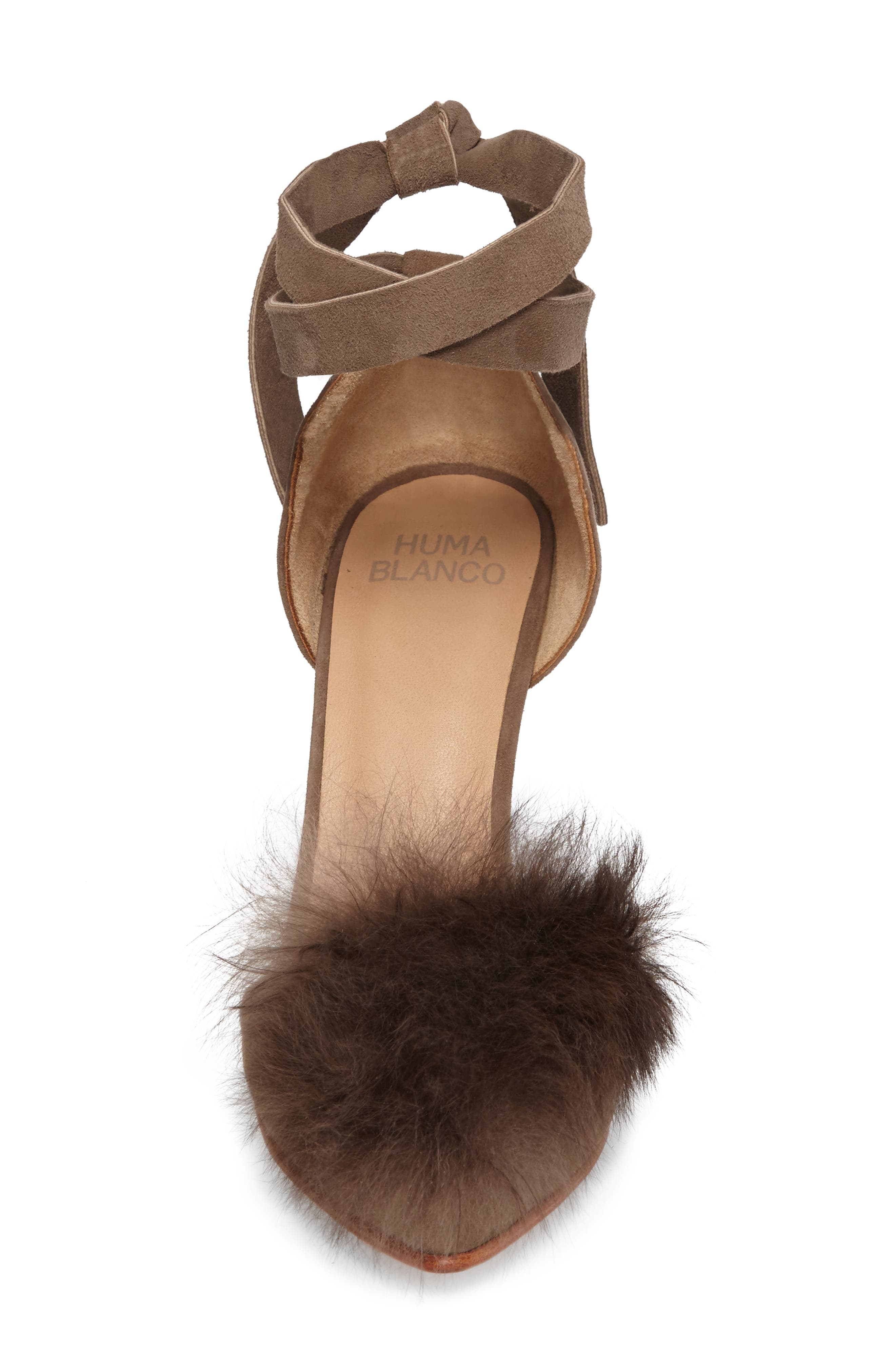 Alternate Image 4  - Huma Blanco Danna Genuine Alpaca Fur Sandal (Women)