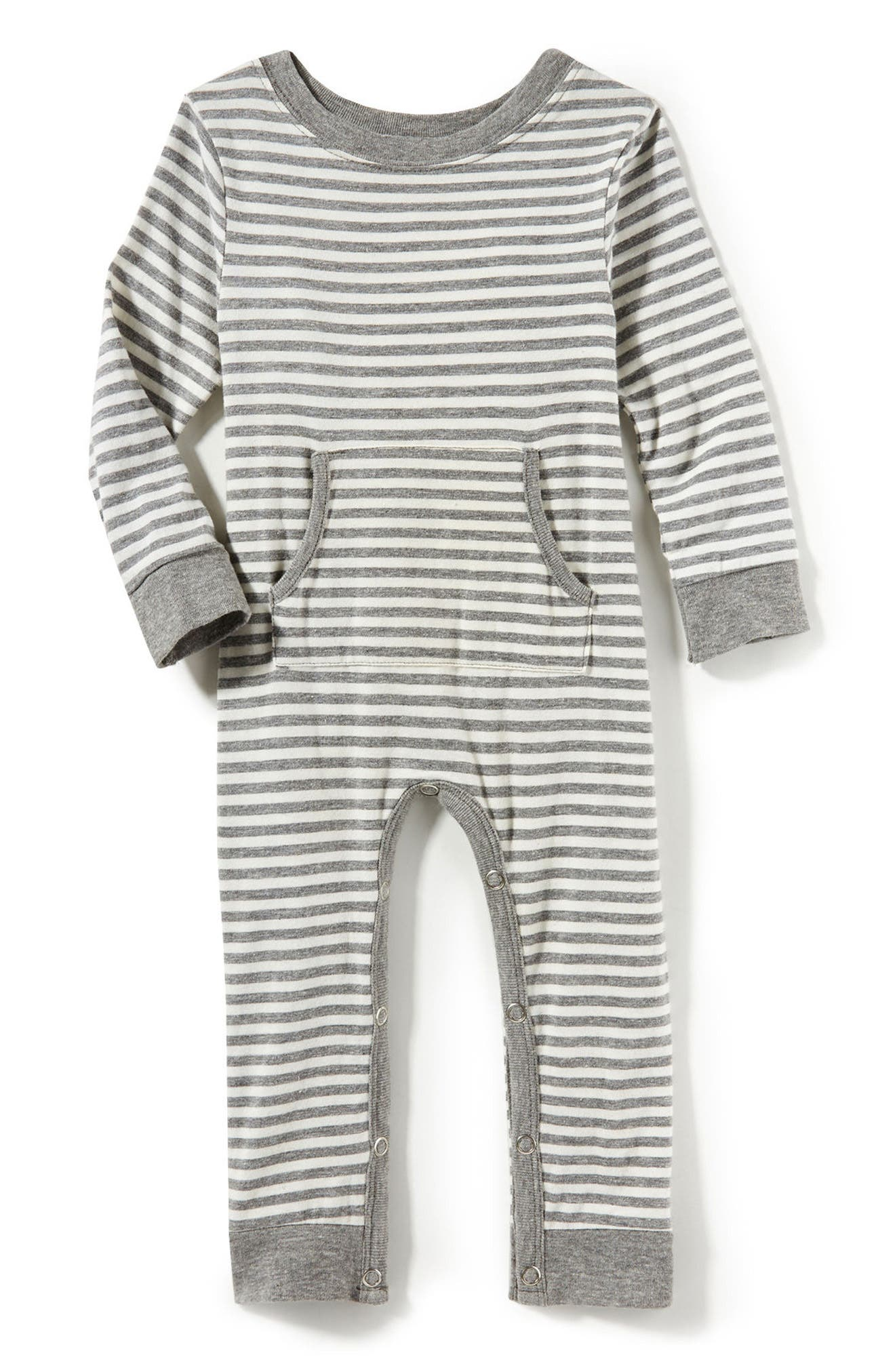 Main Image - Peek Stripe Romper (Baby)