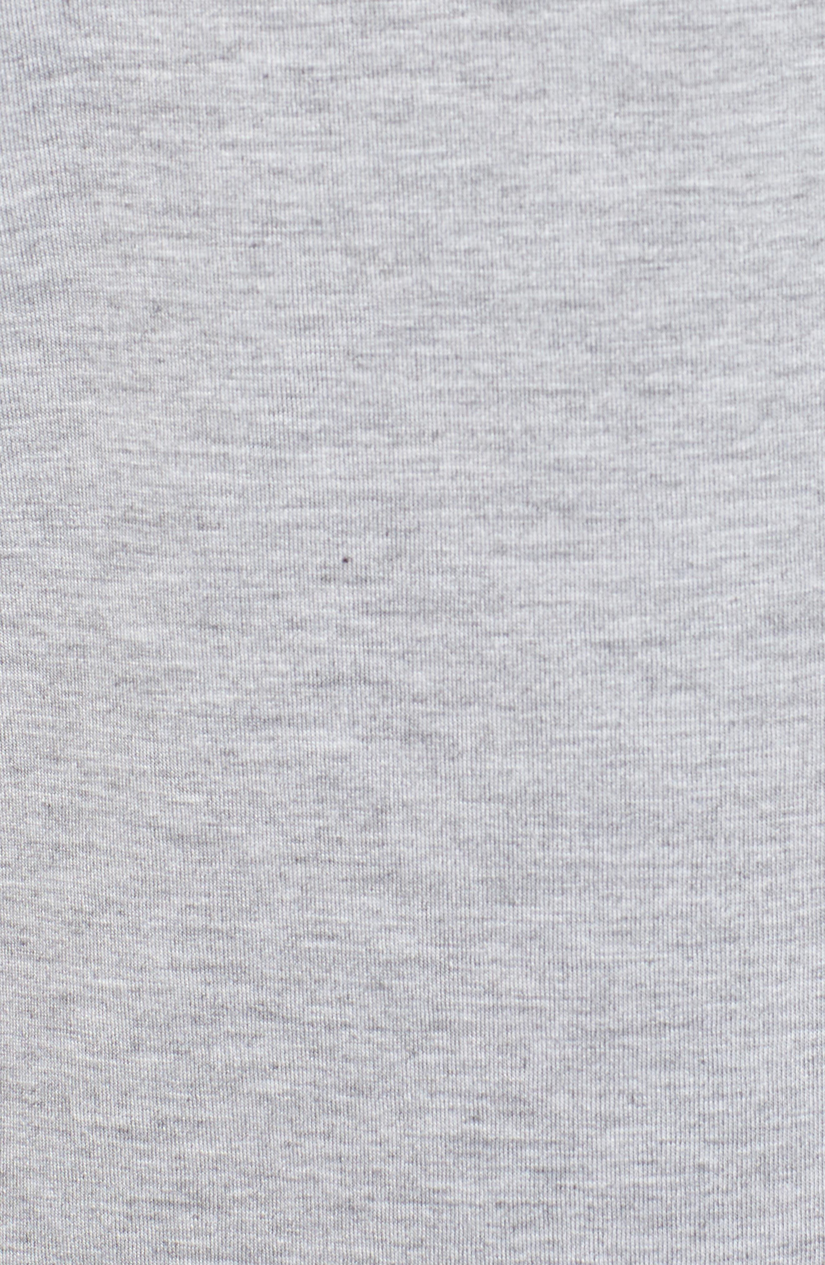 Ruffle Scuba Dress,                             Alternate thumbnail 6, color,                             Grey Heather