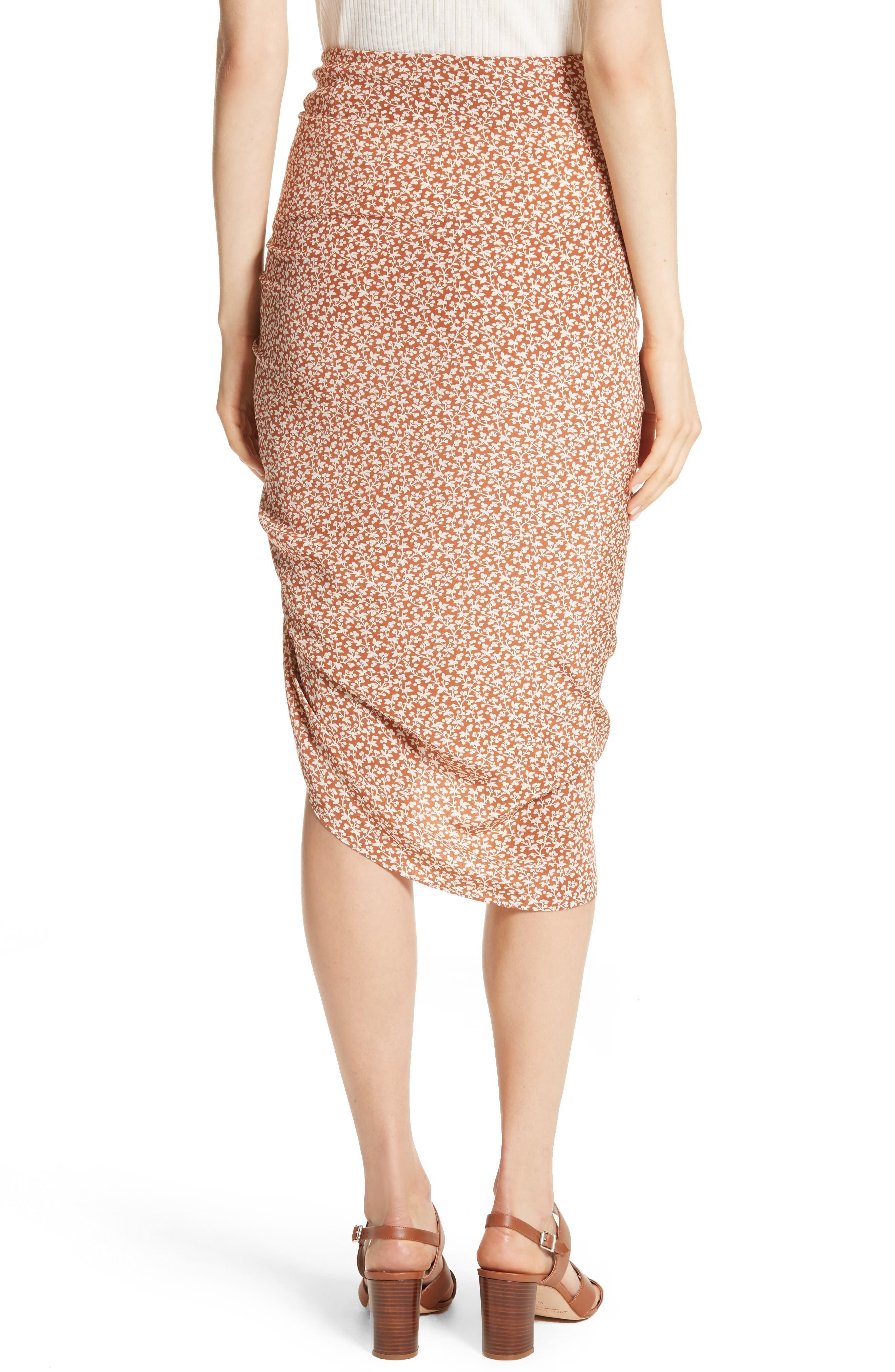 Alternate Image 2  - Veronica Beard Hazel Ruffle Ruched Silk Skirt