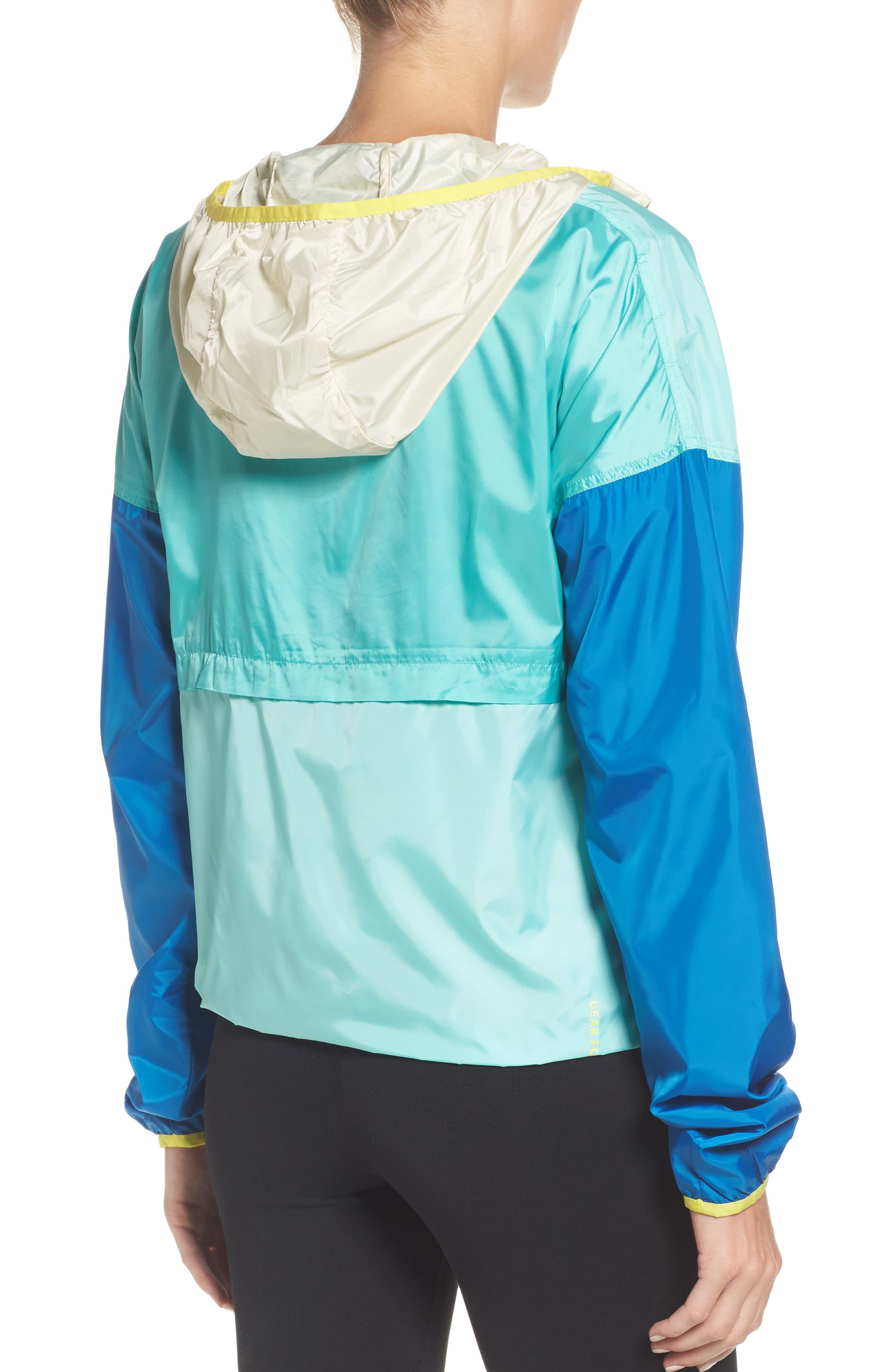 Teca Packable Water Resistant Windbreaker Jacket,                             Alternate thumbnail 2, color,                             Blue Crush