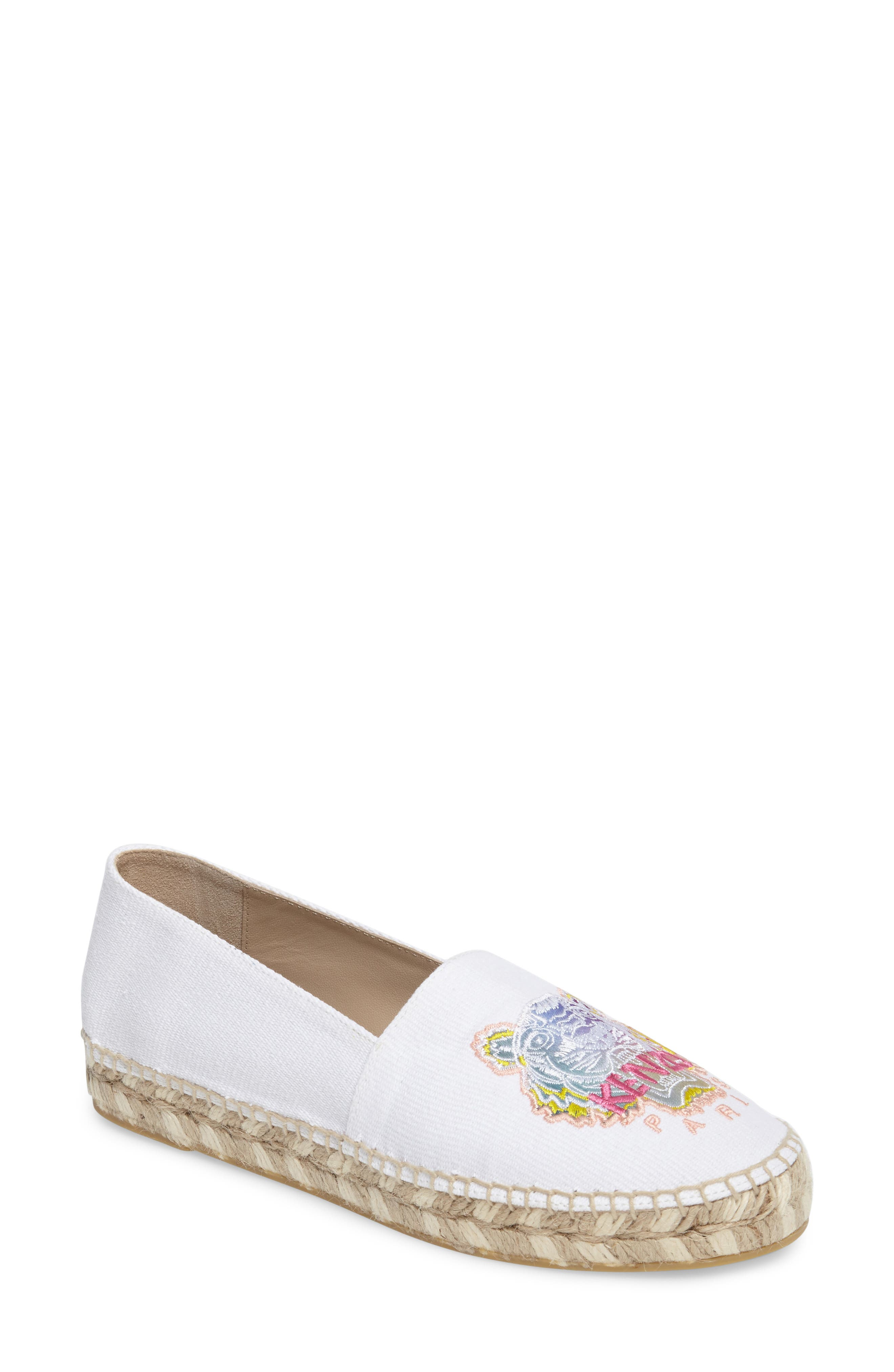 Alternate Image 1 Selected - KENZO Rainbow Tiger Embroidered Espadrille (Women)