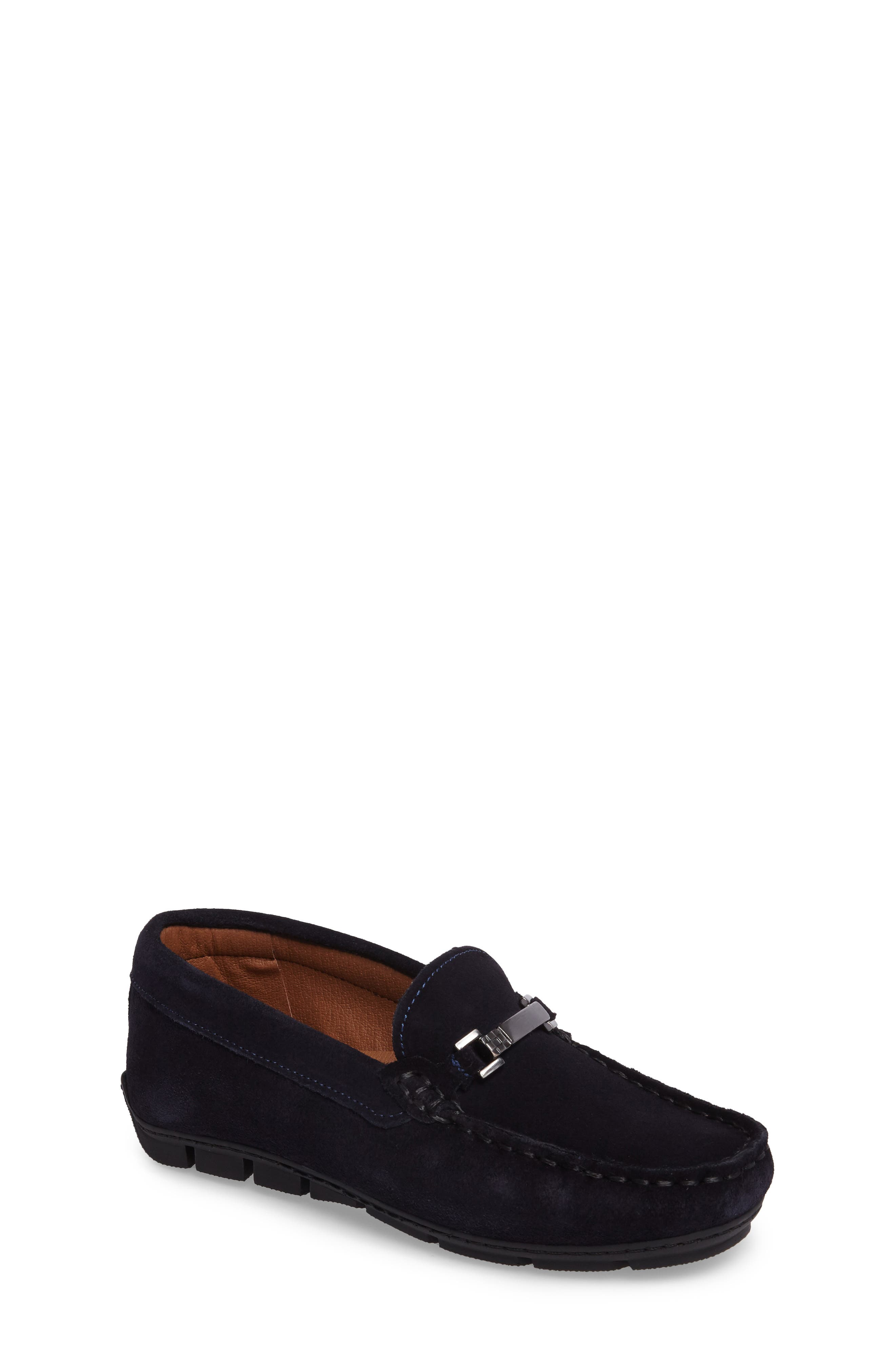 Dante Loafer,                             Main thumbnail 1, color,                             Dark Navy Suede