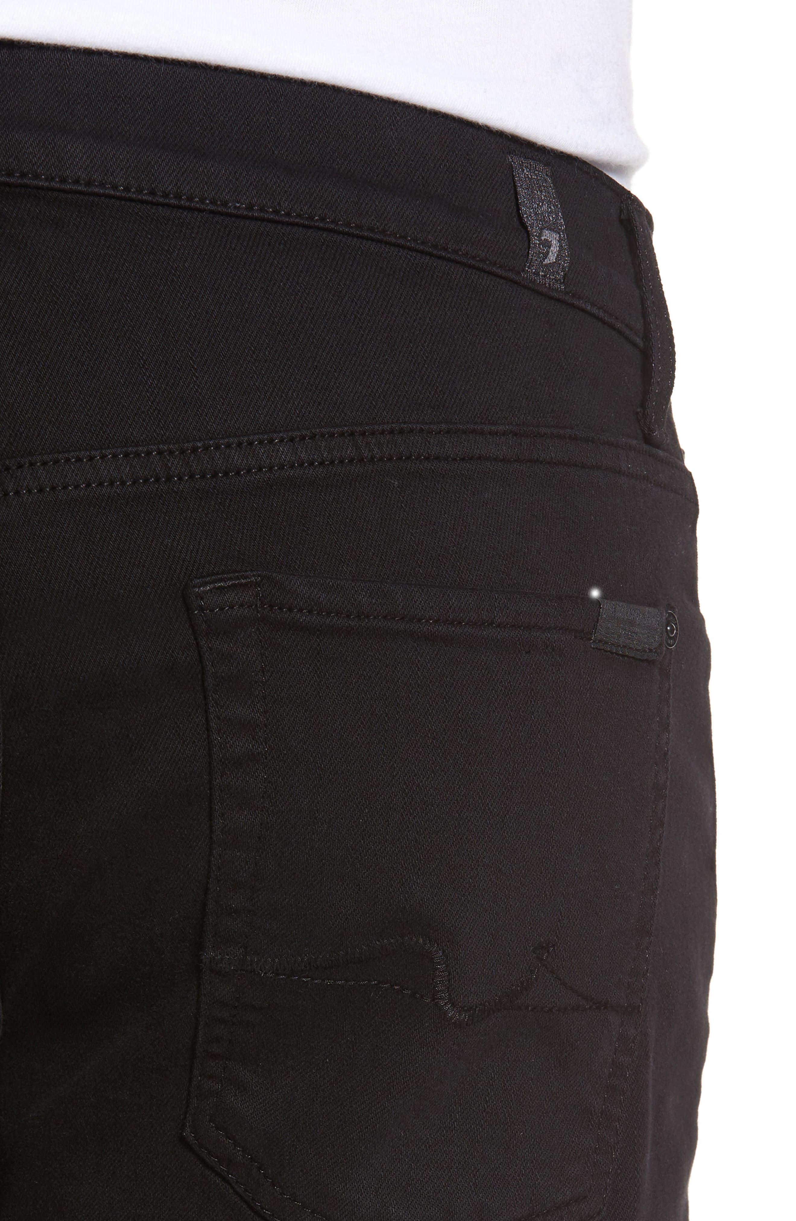 The Standard Straight Leg Jeans,                             Alternate thumbnail 4, color,                             Annex Black