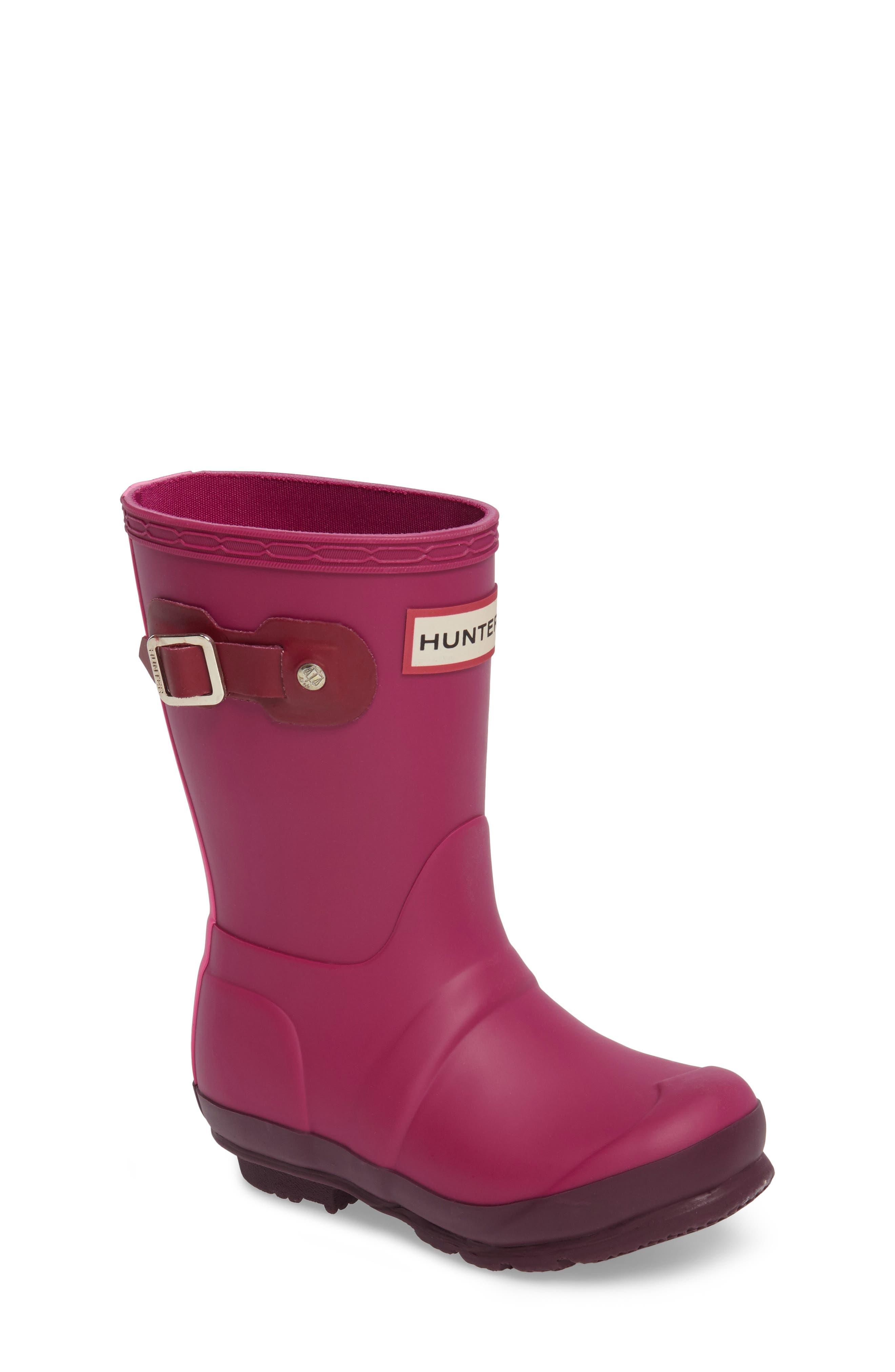 HUNTER Original Contrast Sole Waterproof Rain Boot