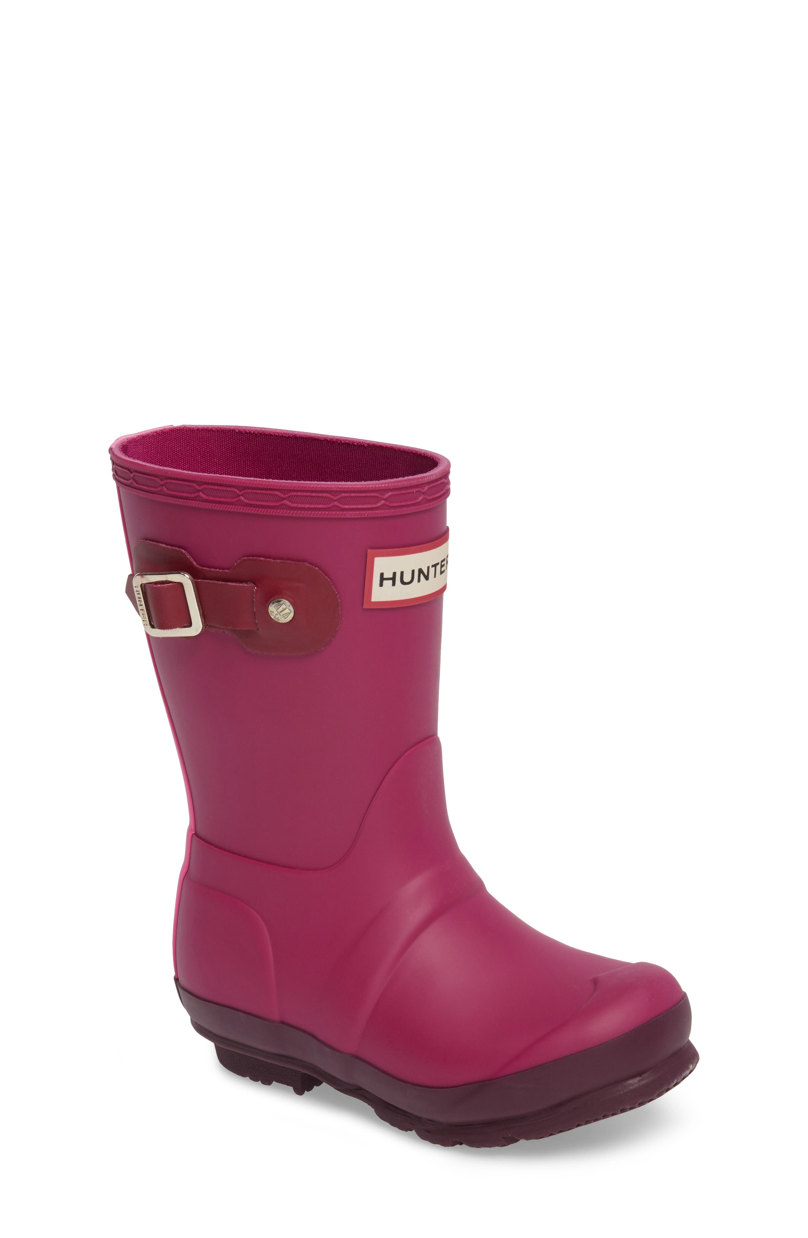 Hunter 'Original Contrast Sole' Waterproof Rain Boot (Little Kid & Big Kid)