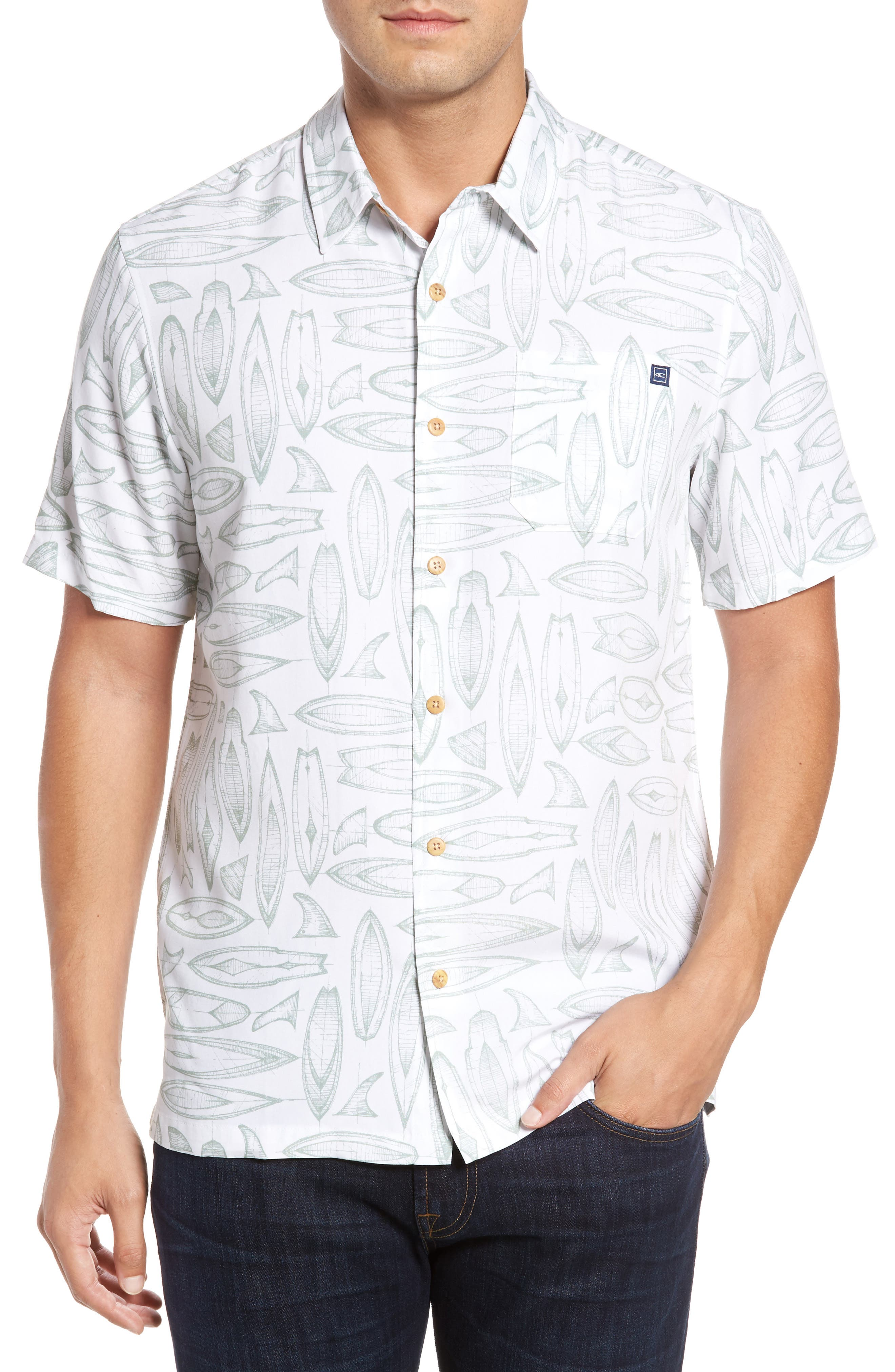 JACK ONEILL Waveriders Print Camp Shirt