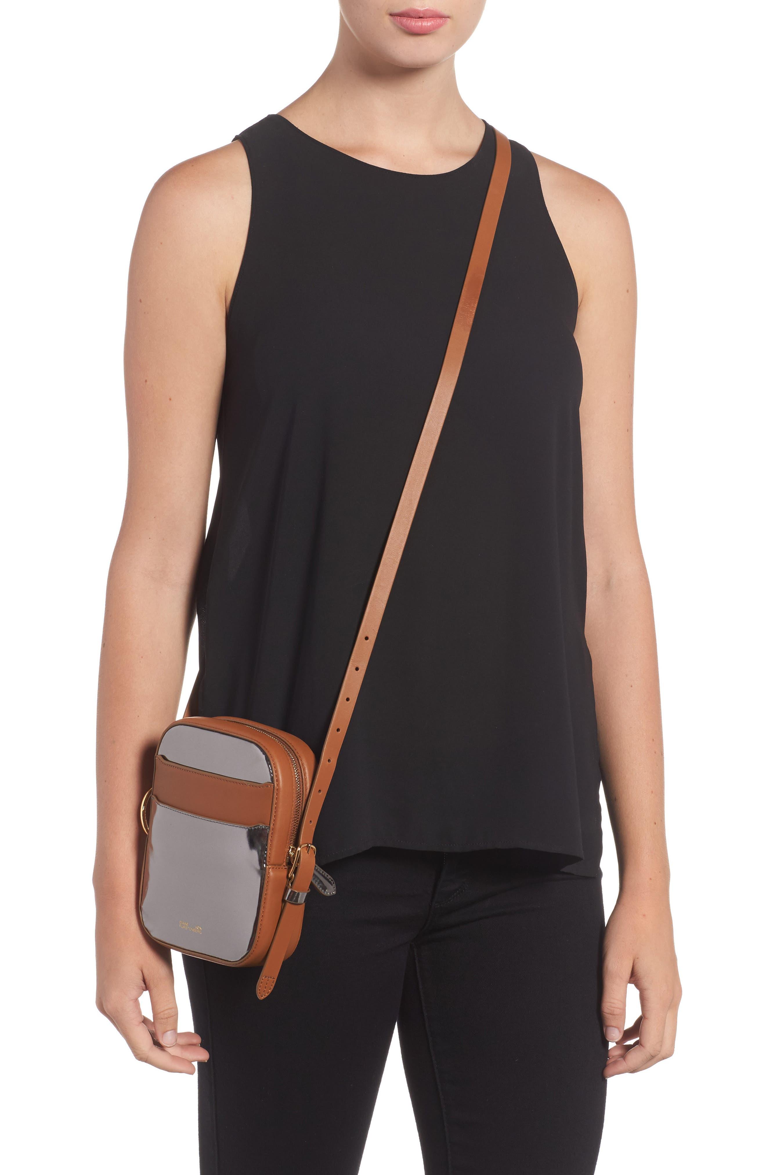 Alternate Image 2  - Diane von Furstenberg Specchio Leather Camera Bag