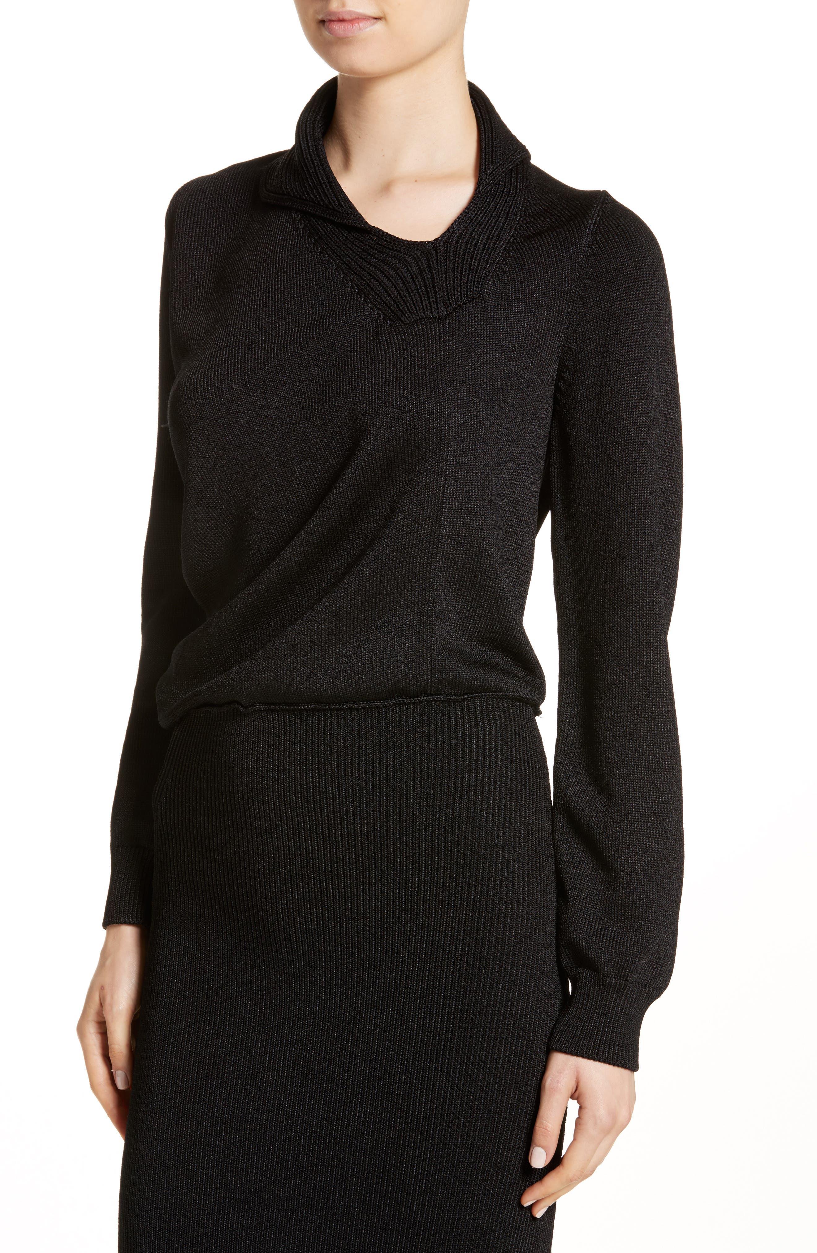 Alternate Image 4  - Atlein Drape Knit Dress