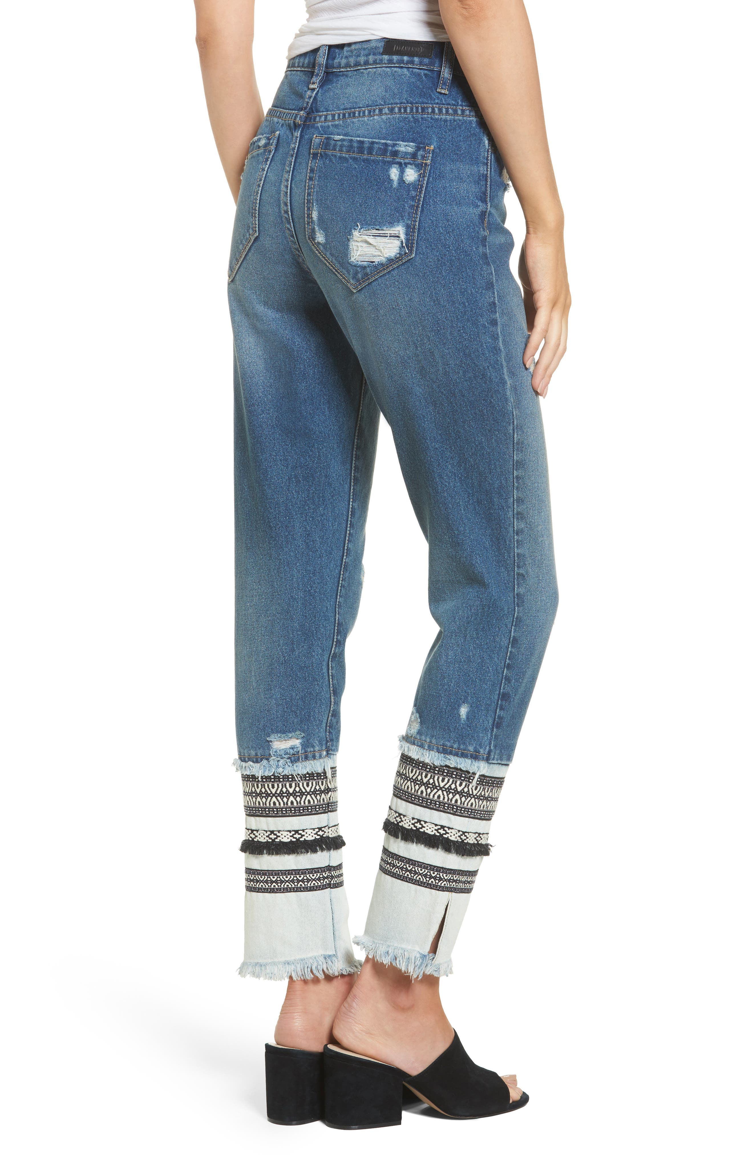 Embellished Straight Leg Jeans,                             Alternate thumbnail 2, color,                             Miss Molly Blue