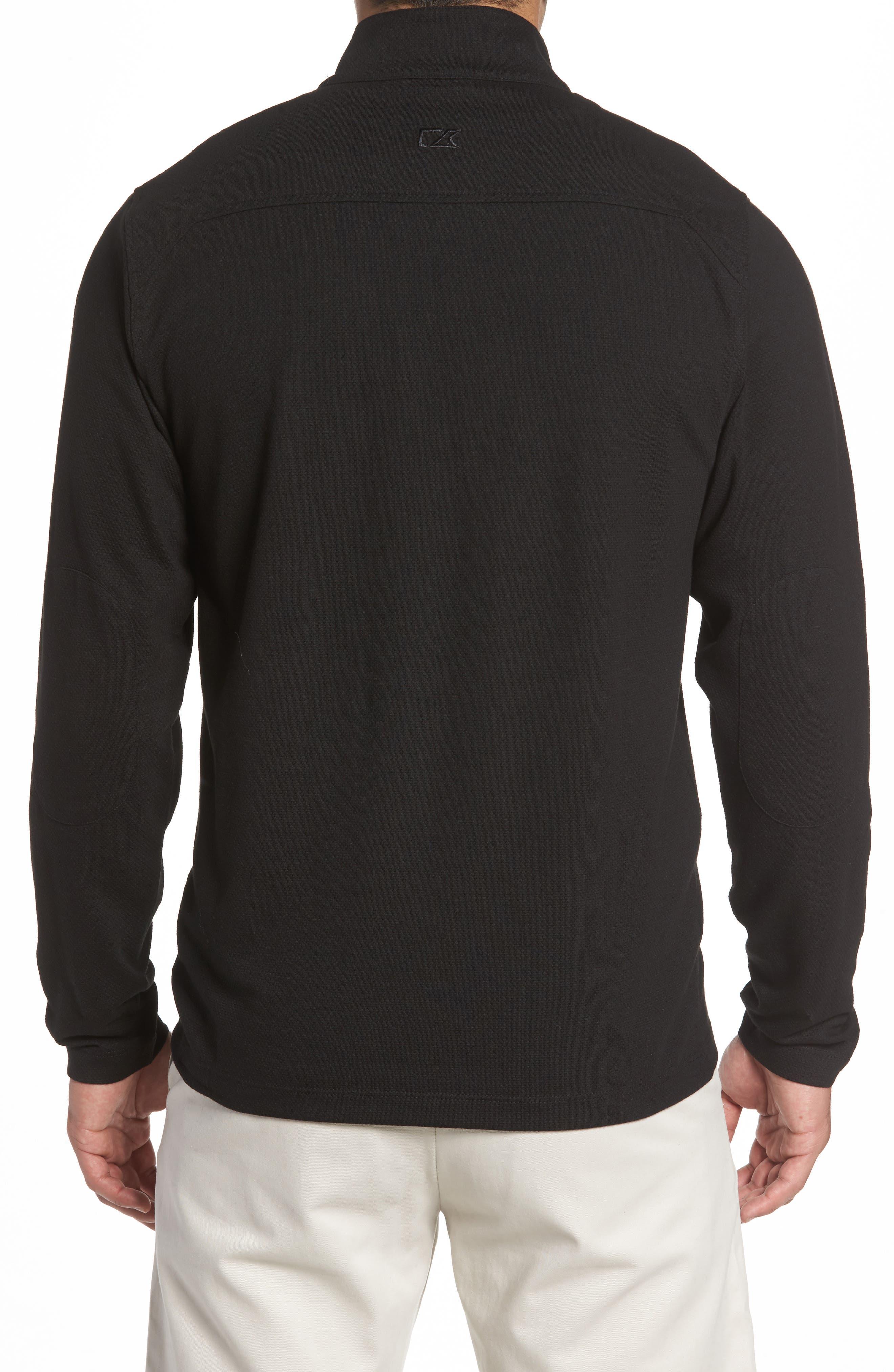 Hewitt Quarter-Zip Waffle Knit Pullover,                             Alternate thumbnail 2, color,                             Black
