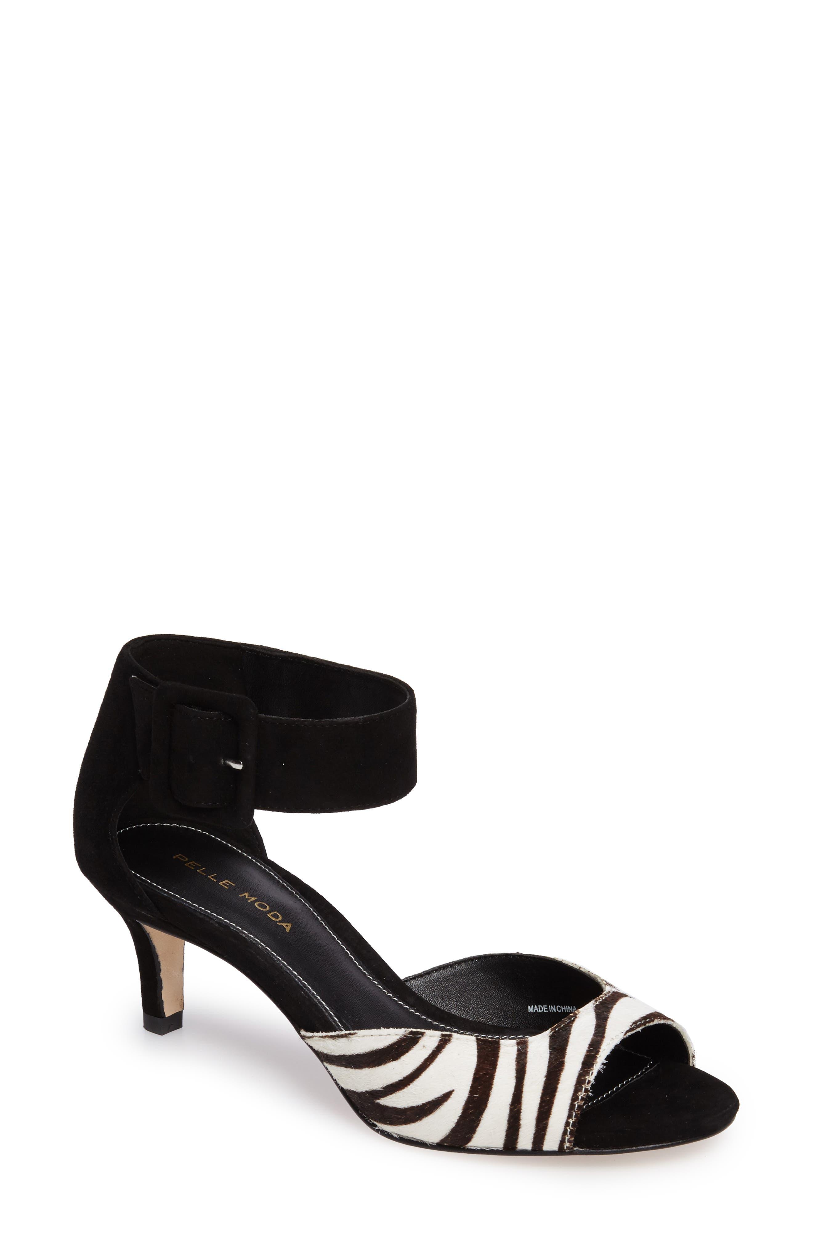Pelle Moda 'Berlin' Genuine Calf Hair Sandal