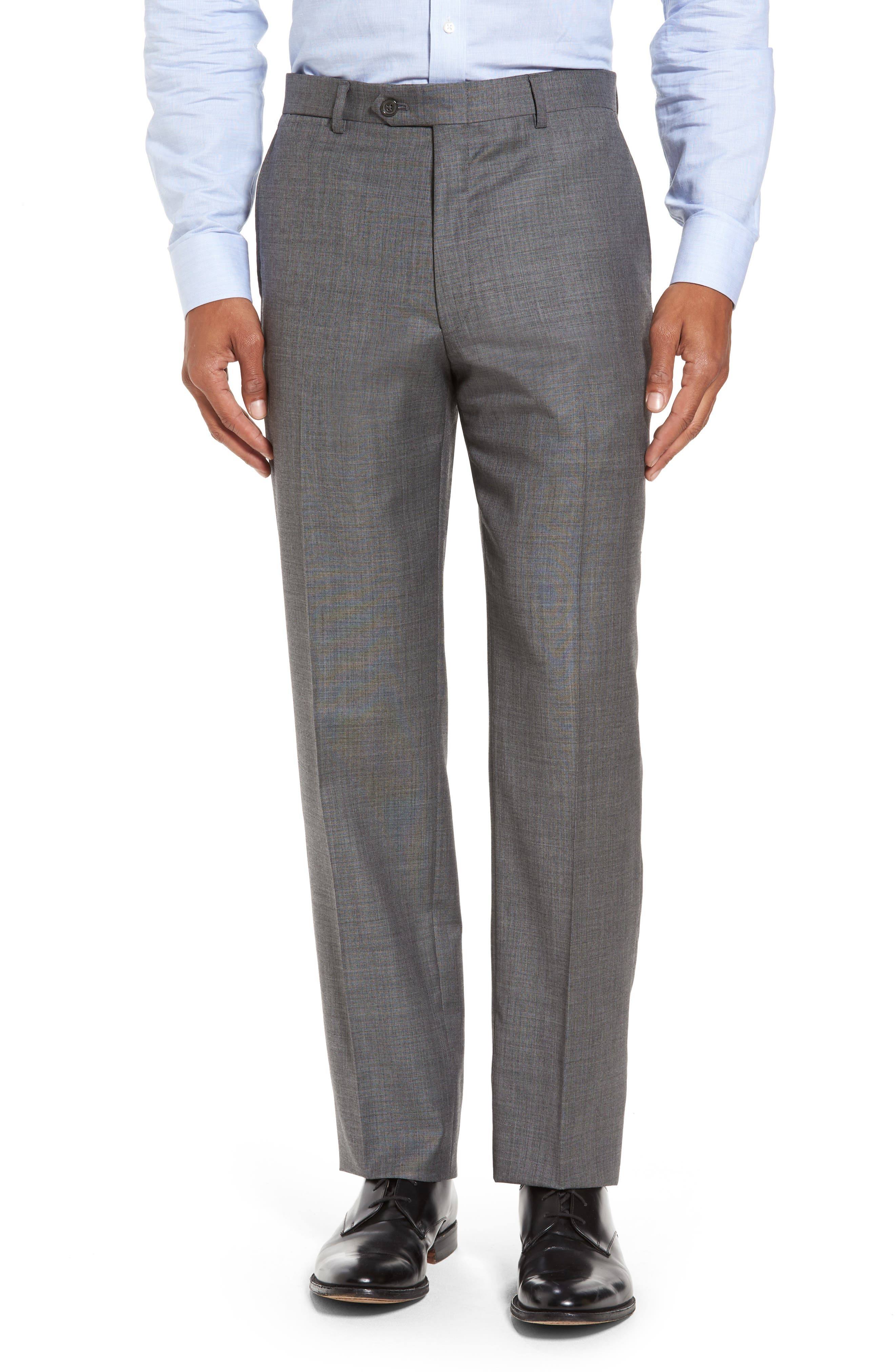 Classic Fit Solid Wool Suit,                             Alternate thumbnail 6, color,                             Med Grey