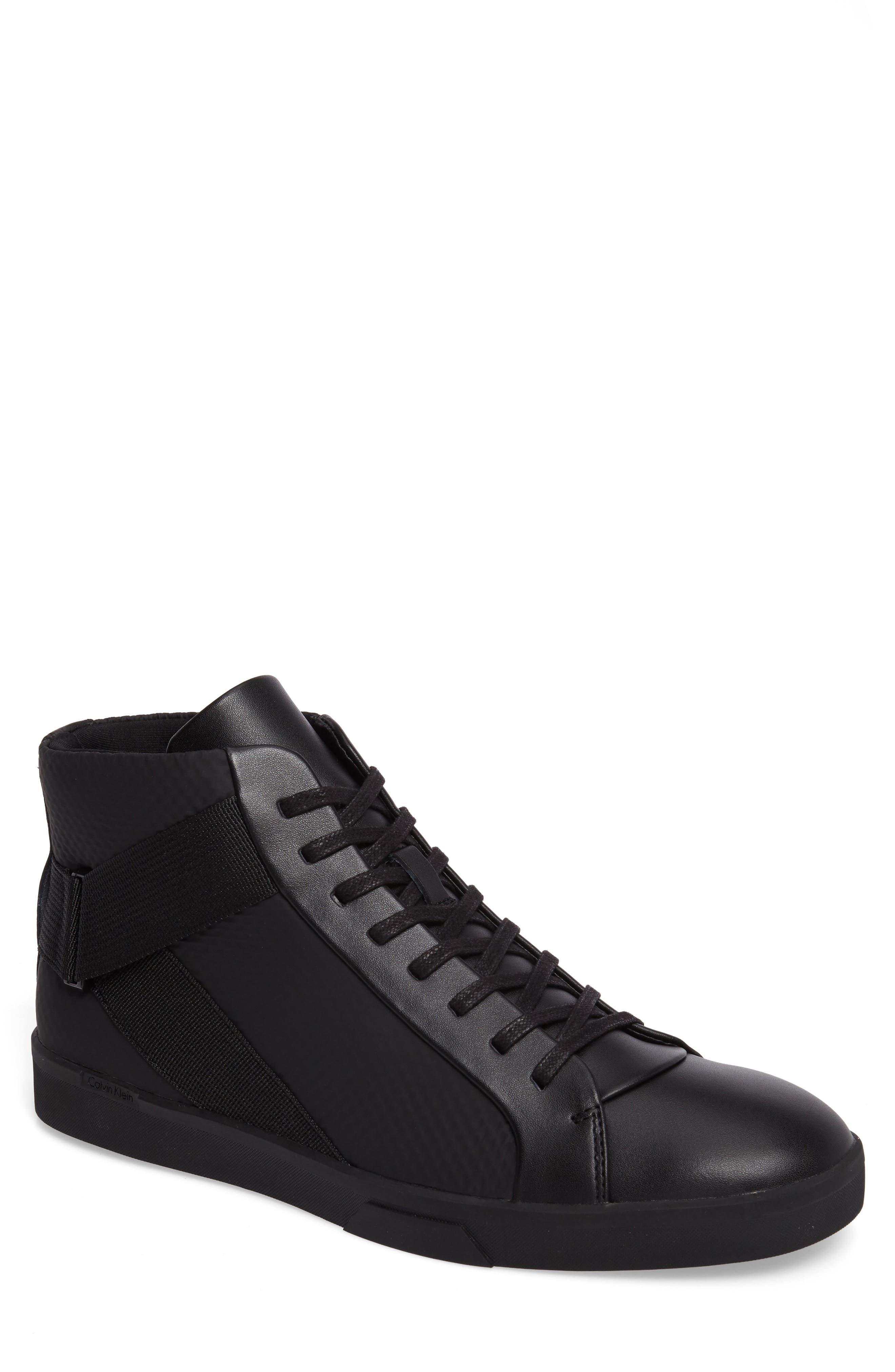 Irvin Sneaker,                         Main,                         color, Black Leather