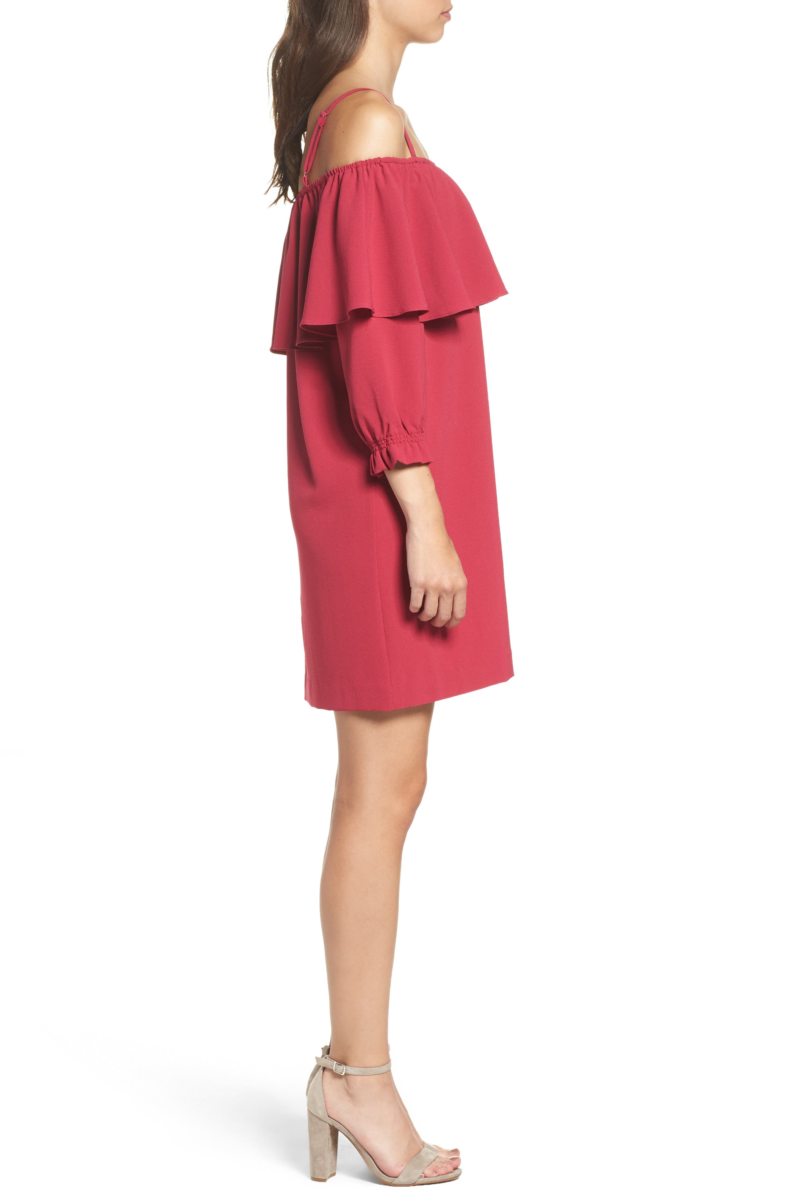 Alternate Image 3  - Felicity & Coco Meadow Ruffle Cold Shoulder Shift Dress (Nordstrom Exclusive)